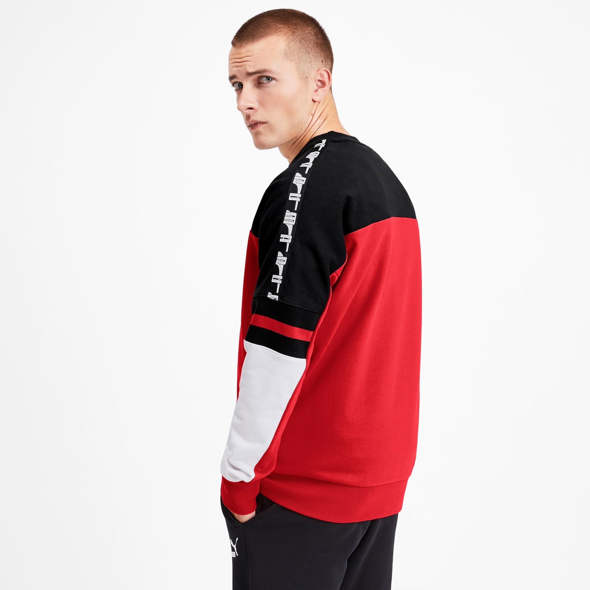 Thumbnail 2 of PUMA XTG Men's Crewneck Sweatshirt, High Risk Red, medium