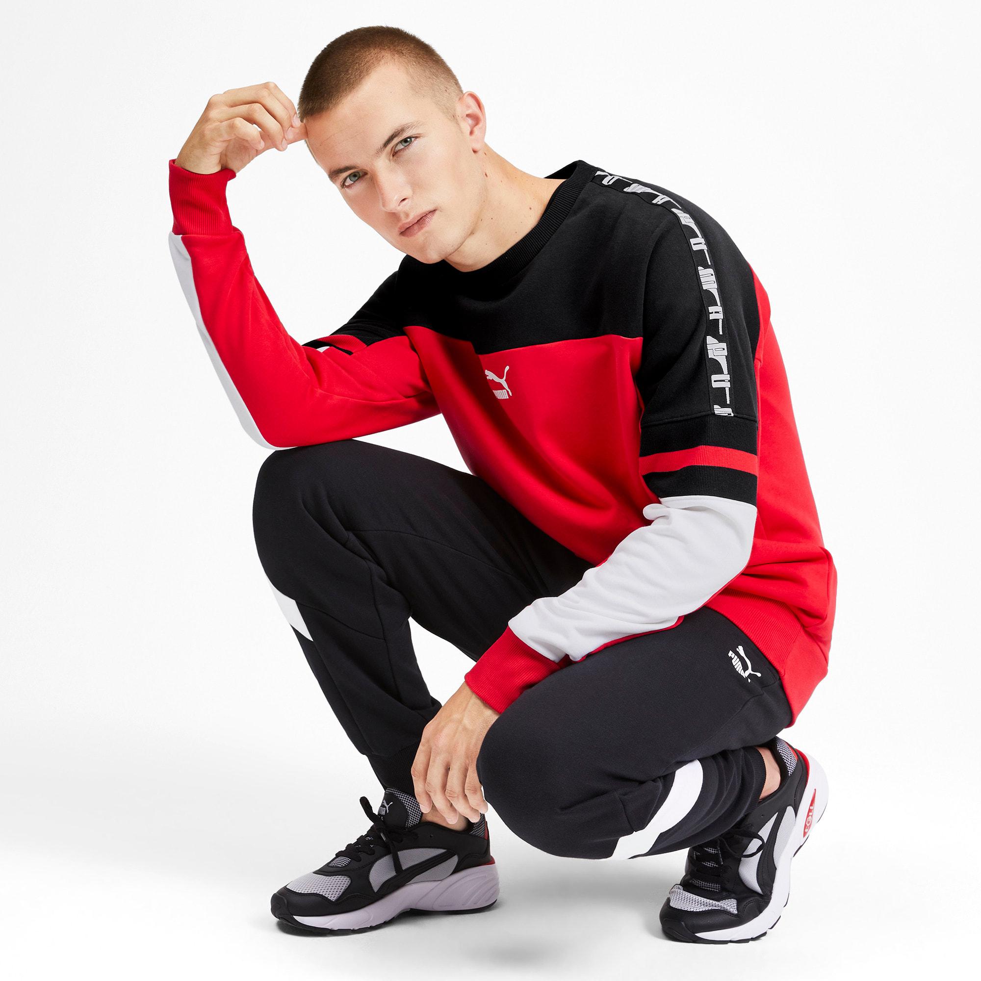 Thumbnail 3 of PUMA XTG Men's Crewneck Sweatshirt, High Risk Red, medium