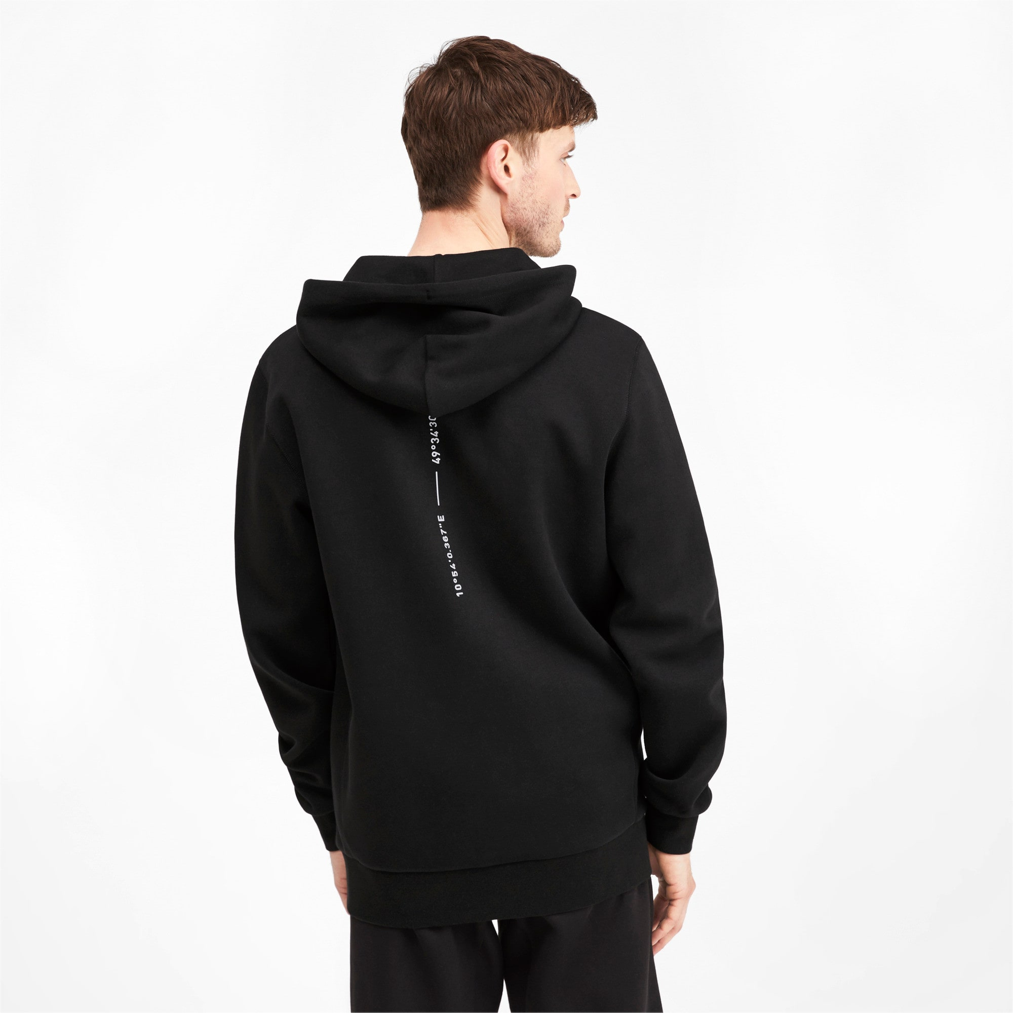 Thumbnail 3 of Epoch Long Sleeve Full Zip Men's Hoodie, Puma Black, medium