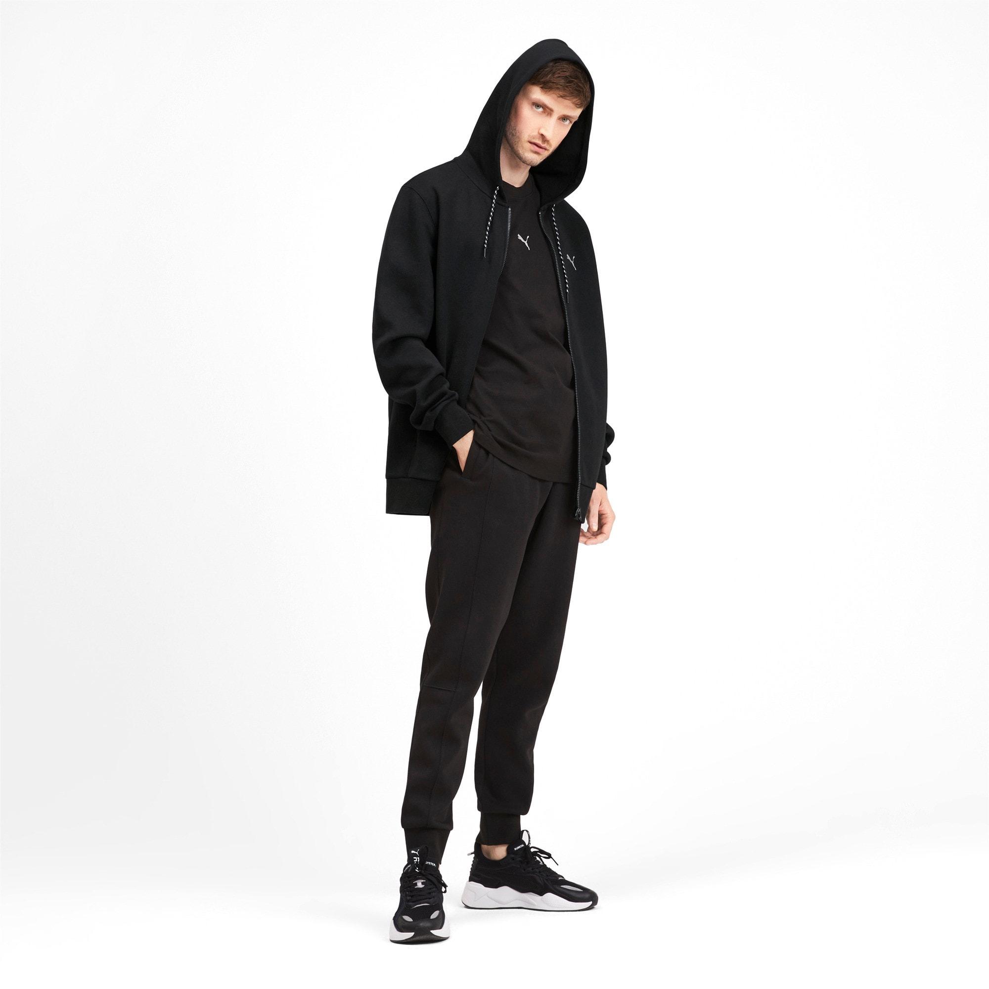 Thumbnail 4 of Epoch Long Sleeve Full Zip Men's Hoodie, Puma Black, medium
