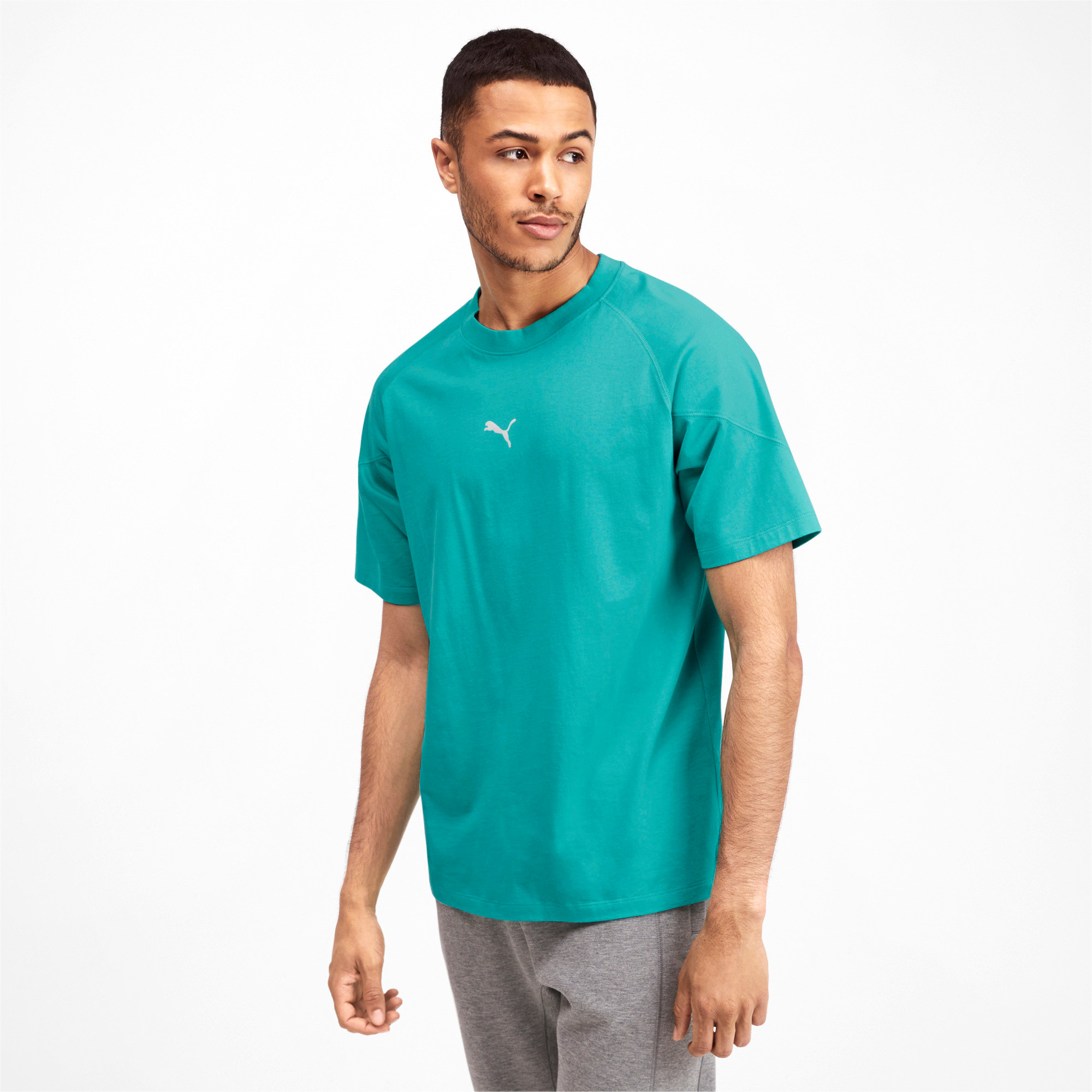 Thumbnail 2 of Epoch Men's Tee, Blue Turquoise, medium