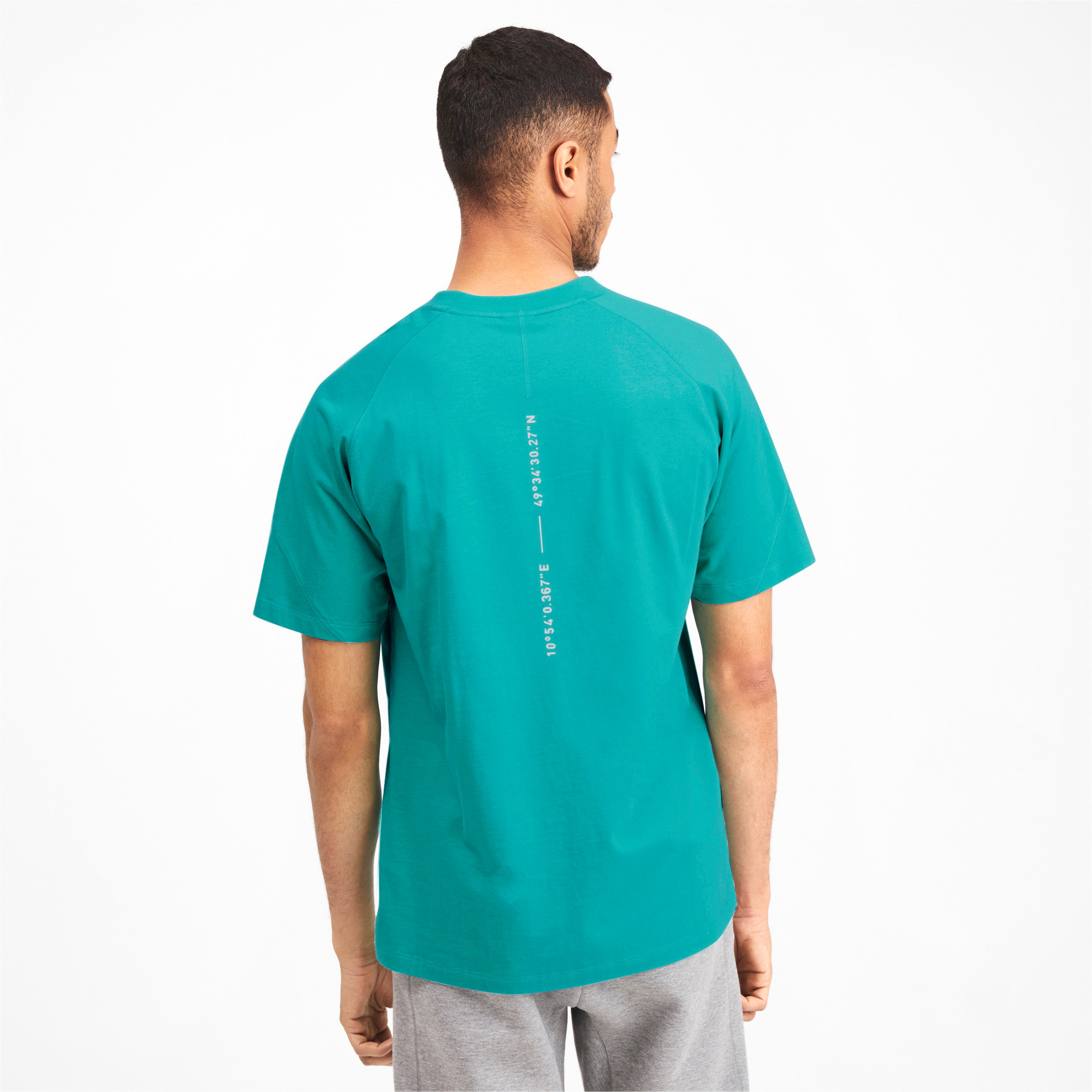 Thumbnail 3 of Epoch Men's Tee, Blue Turquoise, medium