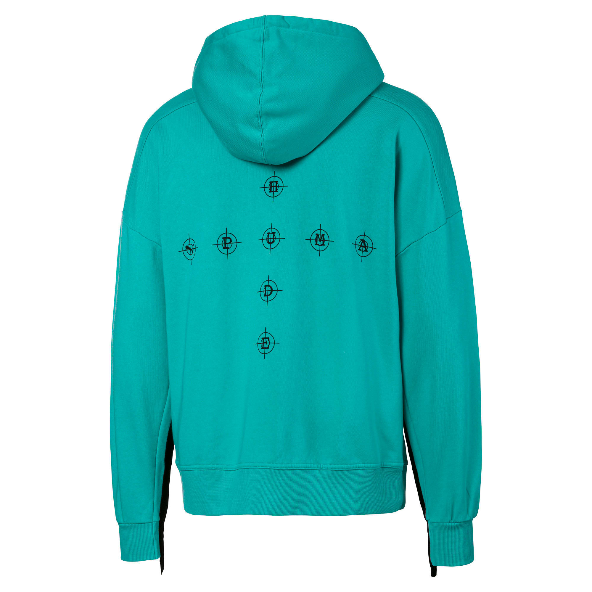 PUMA x RHUDE Men's Hoodie, Blue Turquoise, large