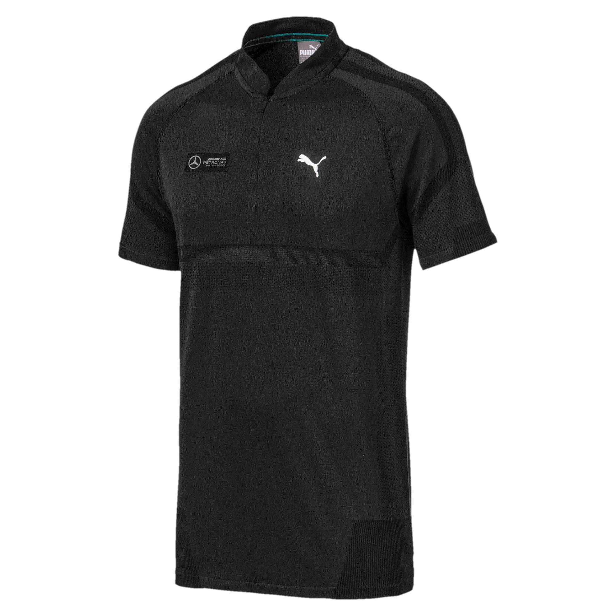Thumbnail 5 of Mercedes AMG Petronas Men's Polo Shirt, Puma Black, medium