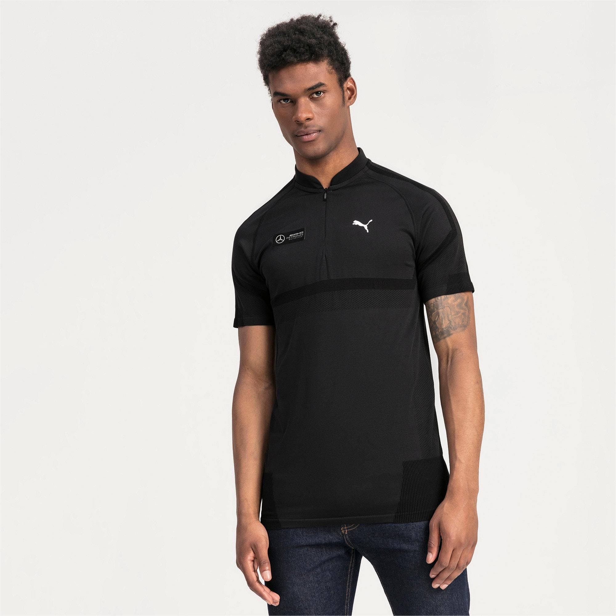 Thumbnail 1 of Mercedes AMG Petronas Men's Polo Shirt, Puma Black, medium