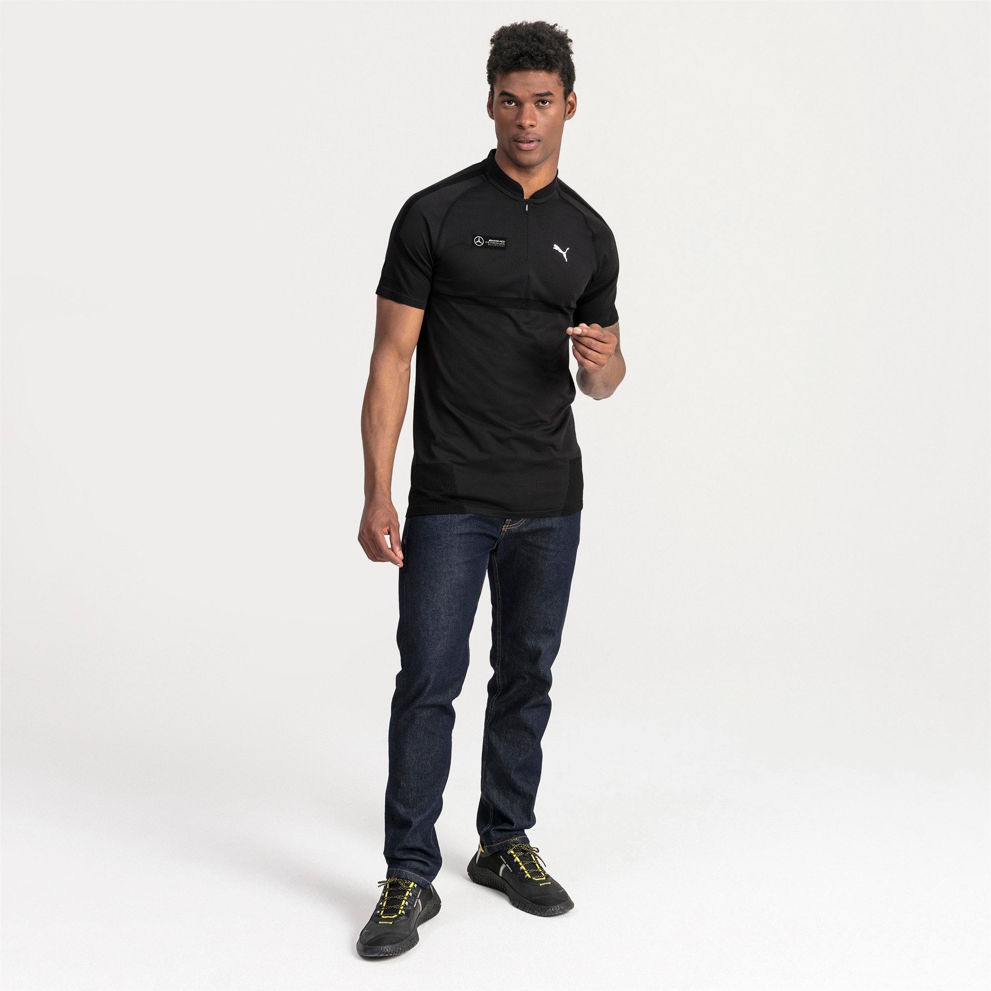 Thumbnail 3 of Mercedes AMG Petronas Men's Polo Shirt, Puma Black, medium