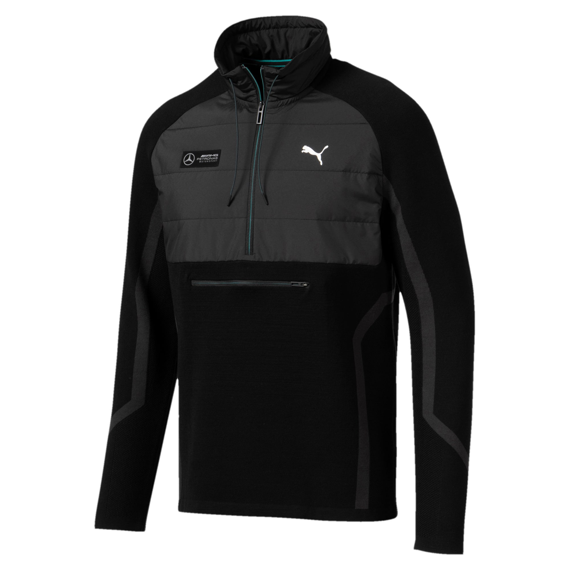 Thumbnail 1 of Mercedes AMG Petronas RCT evoKNIT Knitted Men's Sweater, Puma Black, medium-IND