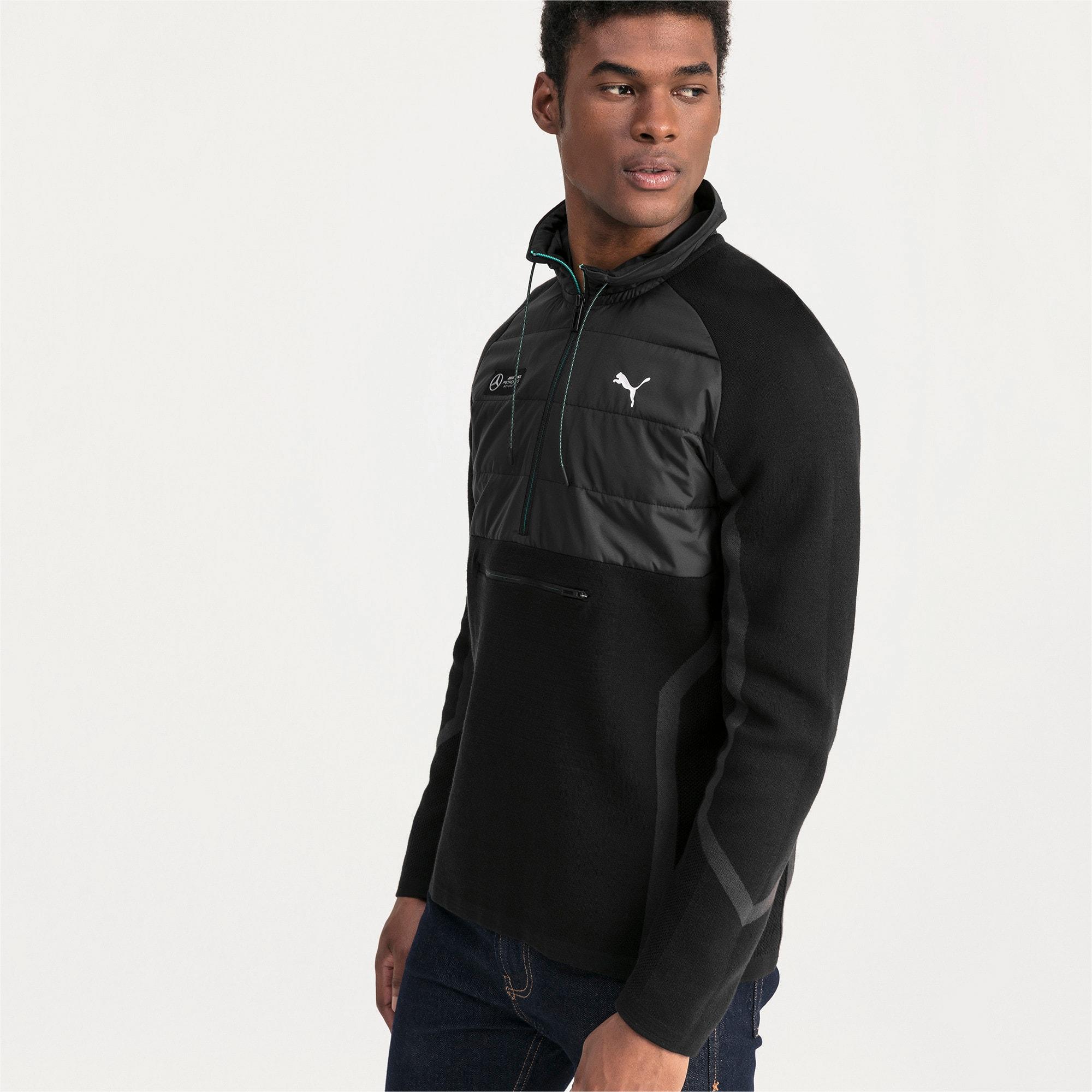 Thumbnail 1 of Mercedes AMG Petronas RCT evoKNIT Knitted Men's Sweater, Puma Black, medium