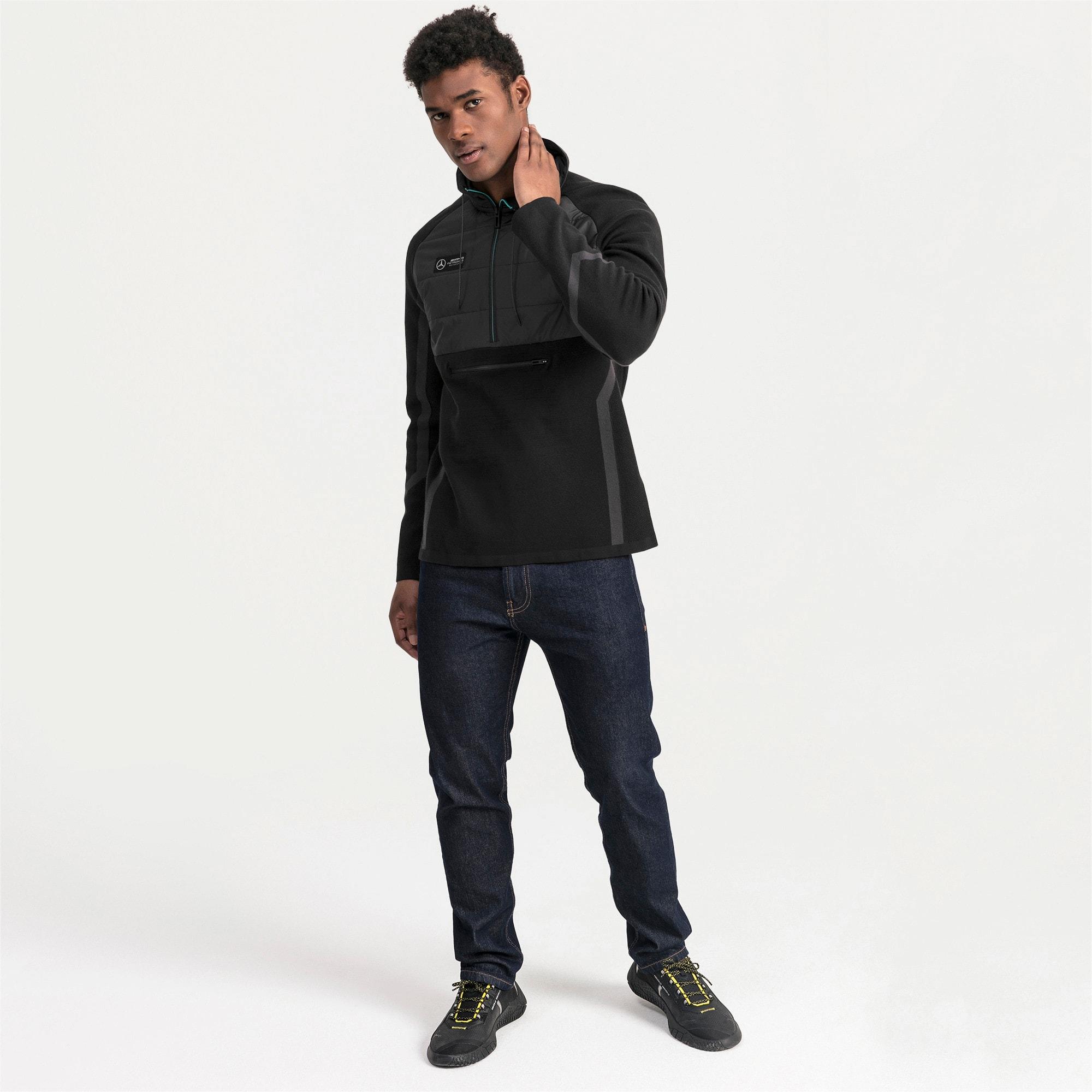 Thumbnail 3 of Mercedes AMG Petronas RCT evoKNIT Knitted Men's Sweater, Puma Black, medium
