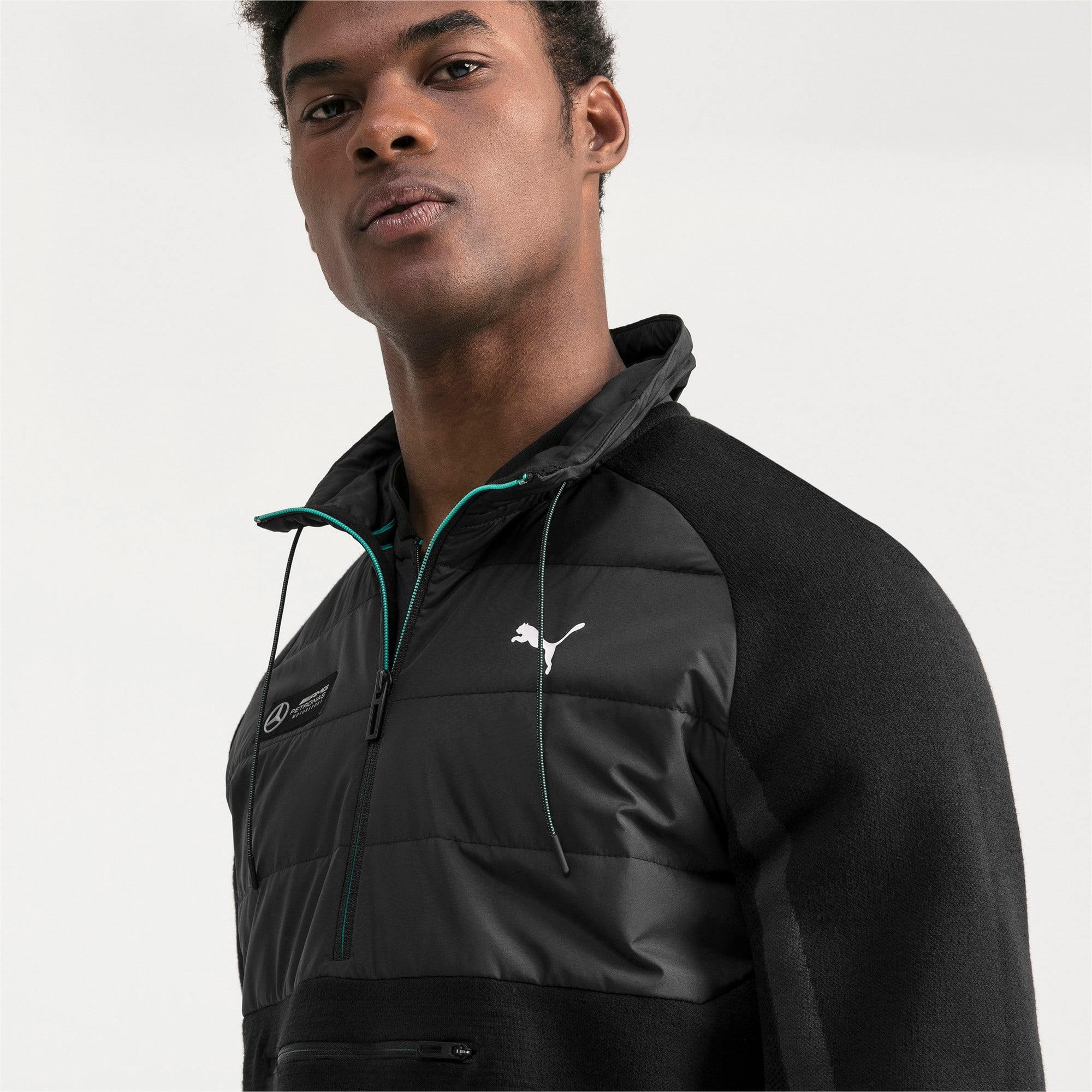 Thumbnail 4 of Mercedes AMG Petronas RCT evoKNIT Knitted Men's Sweater, Puma Black, medium