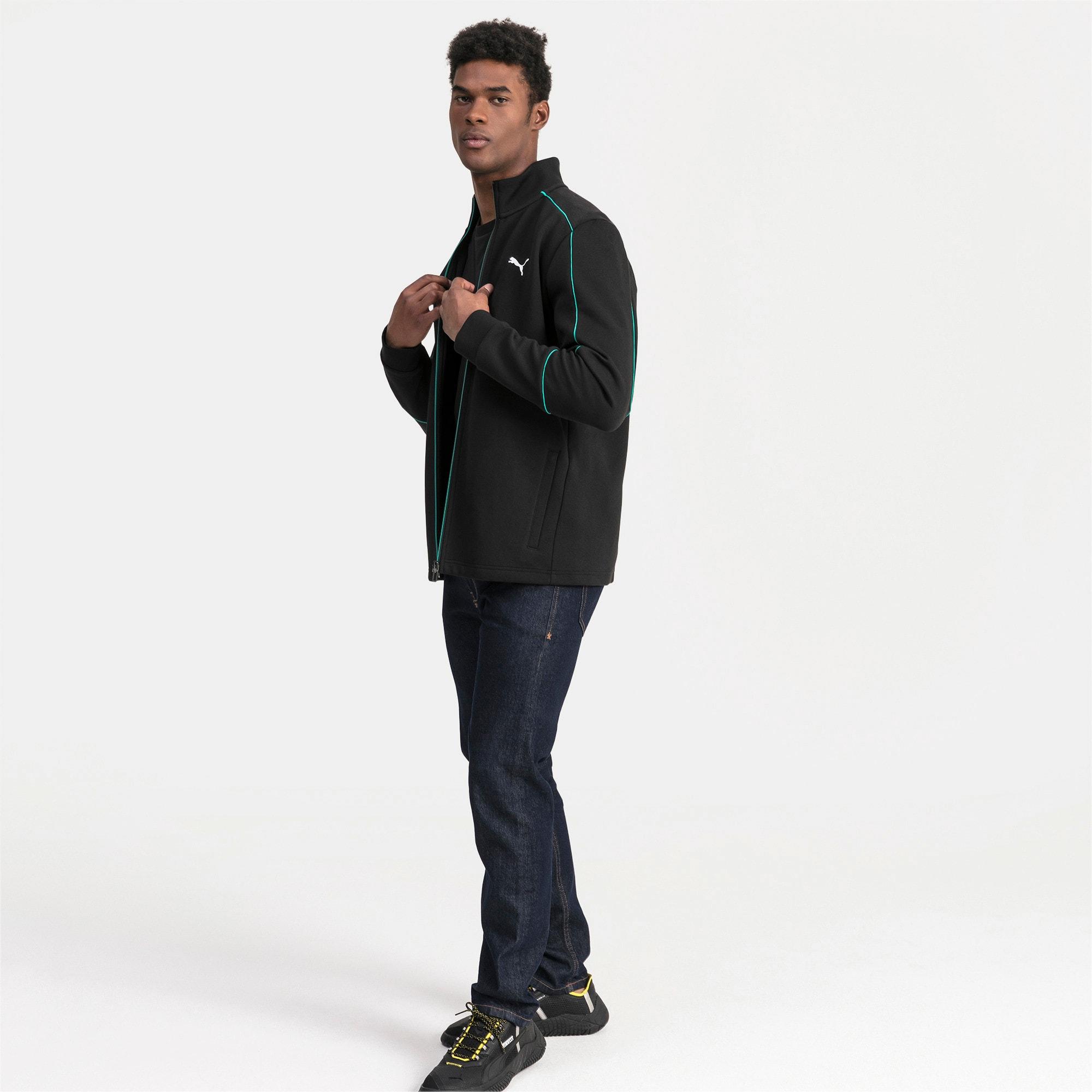 Thumbnail 3 of Mercedes AMG Petronas Men's Sweat Jacket, Puma Black, medium