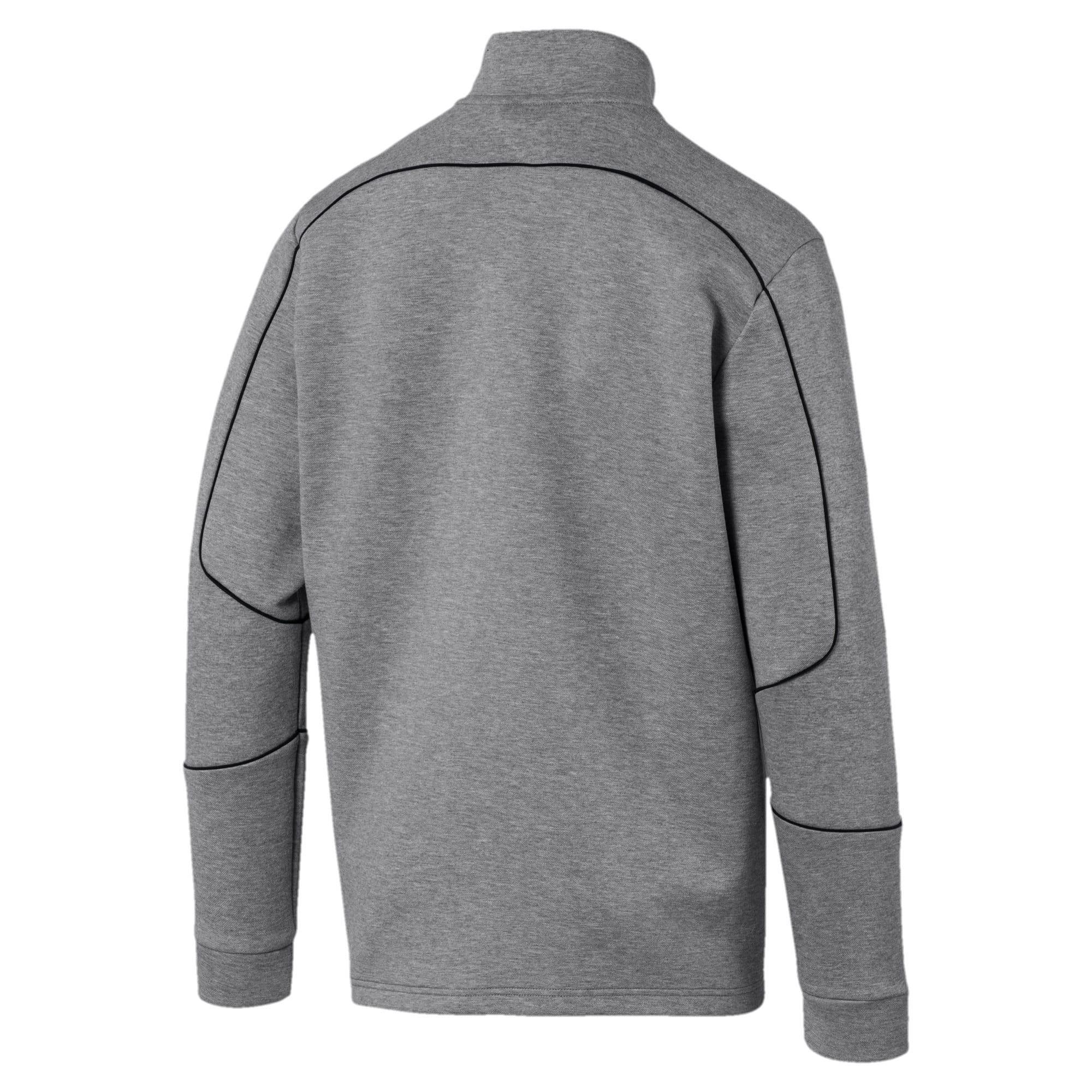 Thumbnail 5 of Mercedes AMG Petronas Men's Sweat Jacket, Medium Gray Heather, medium