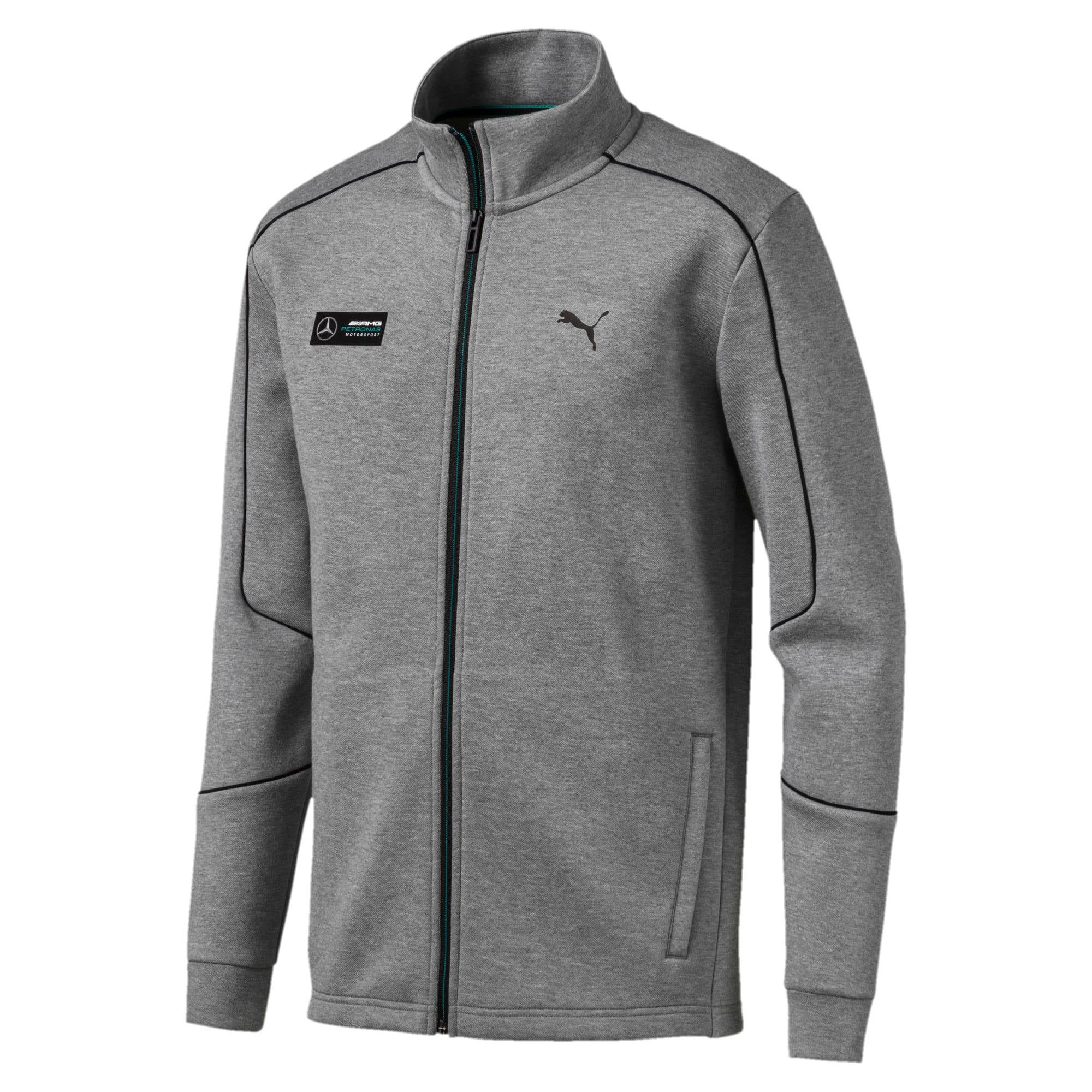 Thumbnail 4 of Mercedes AMG Petronas Men's Sweat Jacket, Medium Gray Heather, medium
