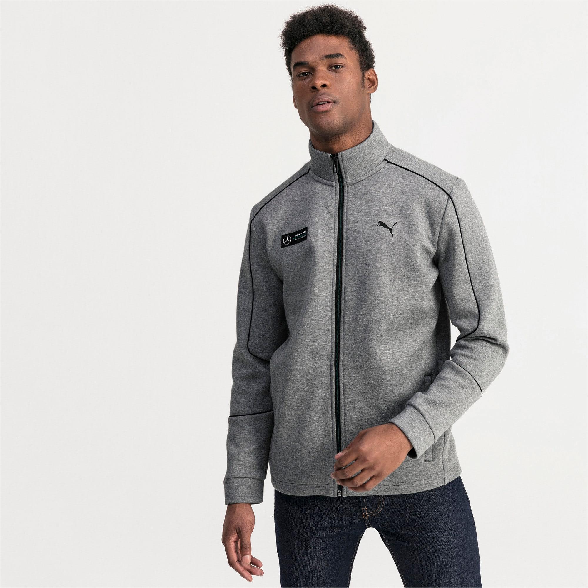 Thumbnail 1 of Mercedes AMG Petronas Men's Sweat Jacket, Medium Gray Heather, medium