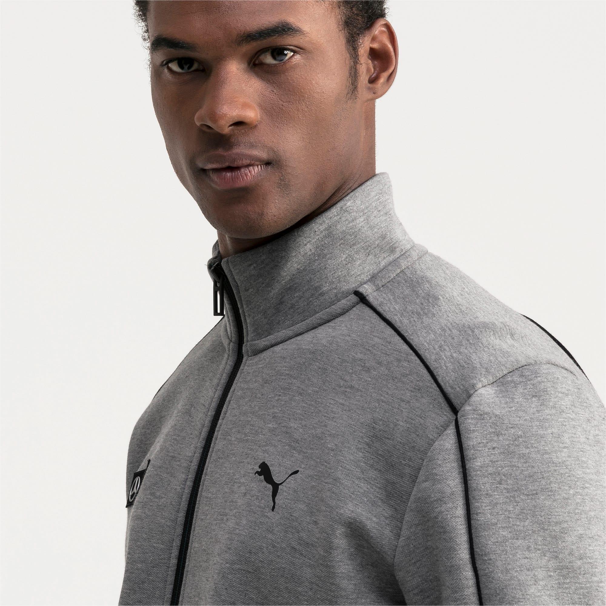 Thumbnail 3 of Mercedes AMG Petronas Men's Sweat Jacket, Medium Gray Heather, medium
