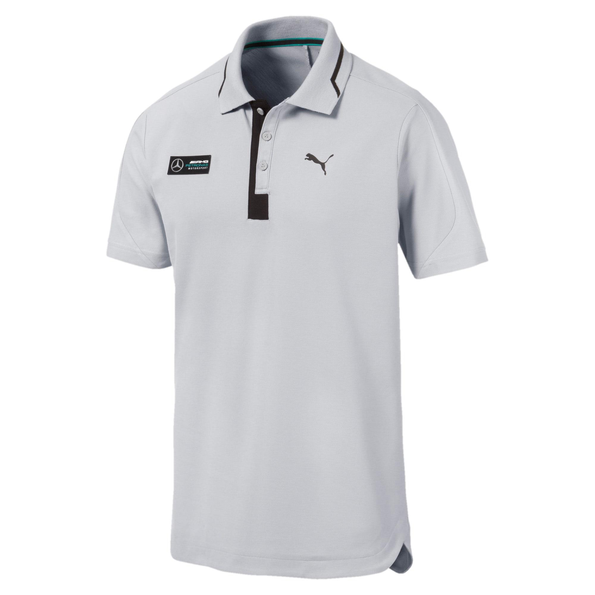 Miniatura 1 de Camiseta tipo polo Mercedes AMG Petronaspara hombre, Mercedes Team Silver, mediano