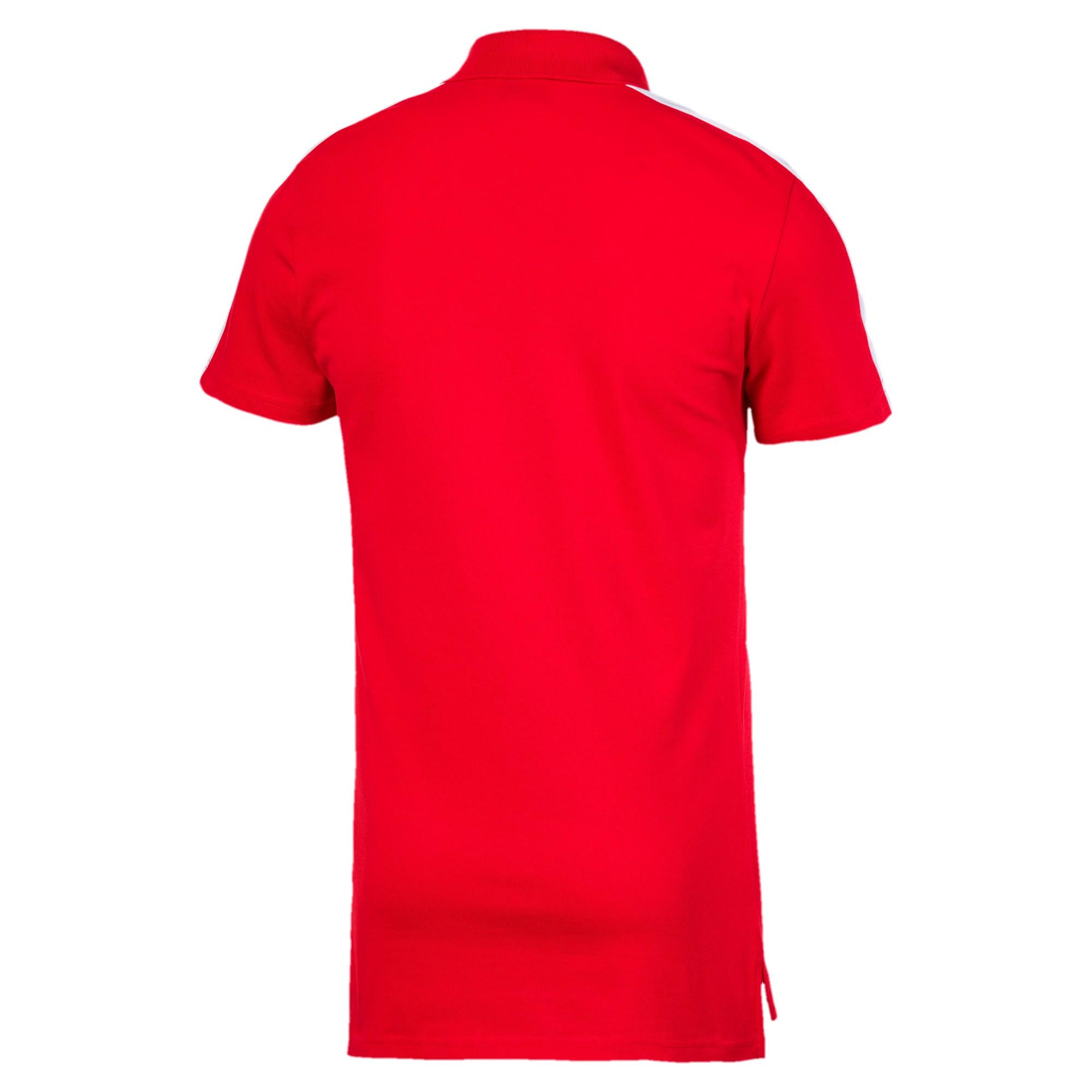 Miniatura 5 de Camiseta tipo polo T7 icónica para hombre, High Risk Red, mediano