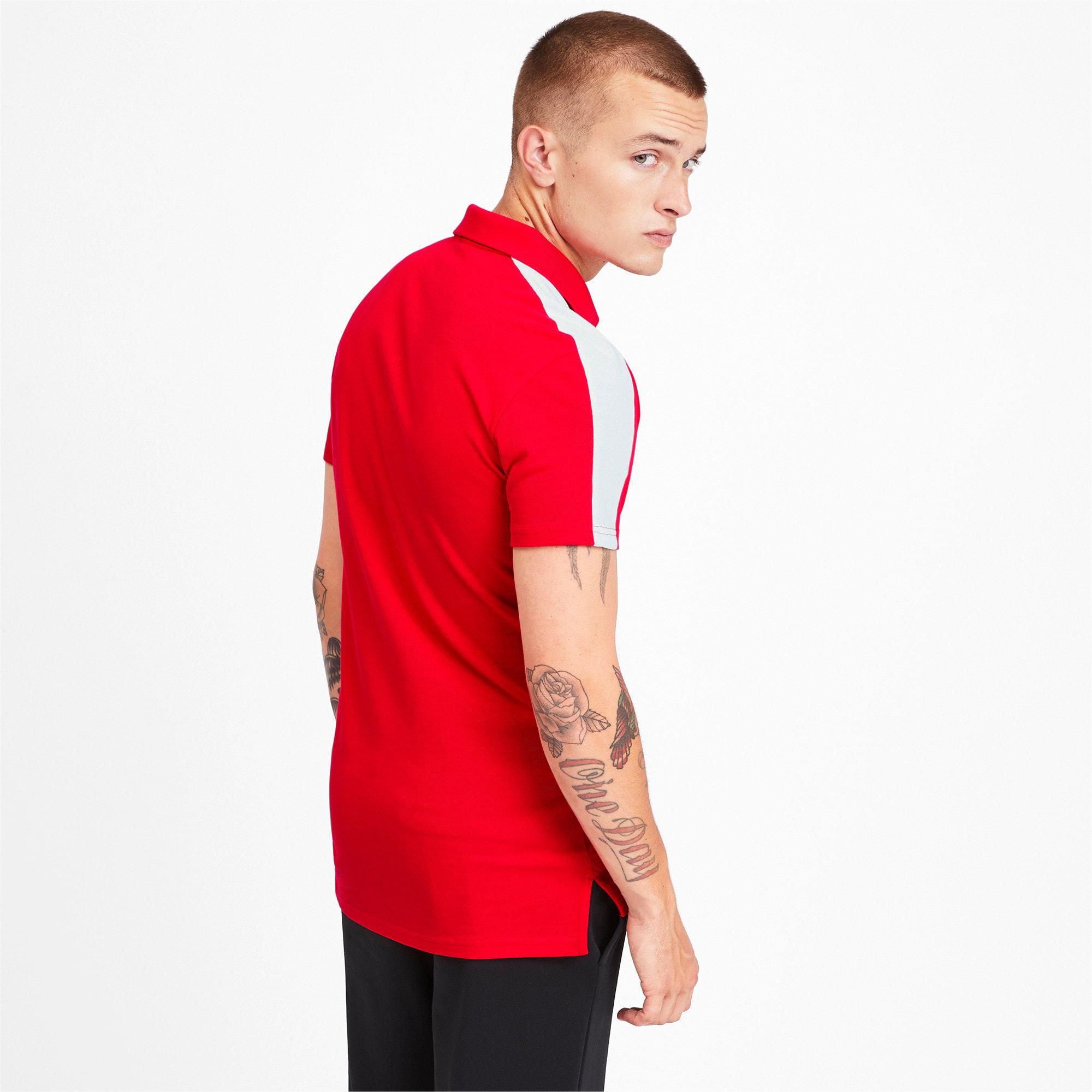 Miniatura 3 de Camiseta tipo polo T7 icónica para hombre, High Risk Red, mediano