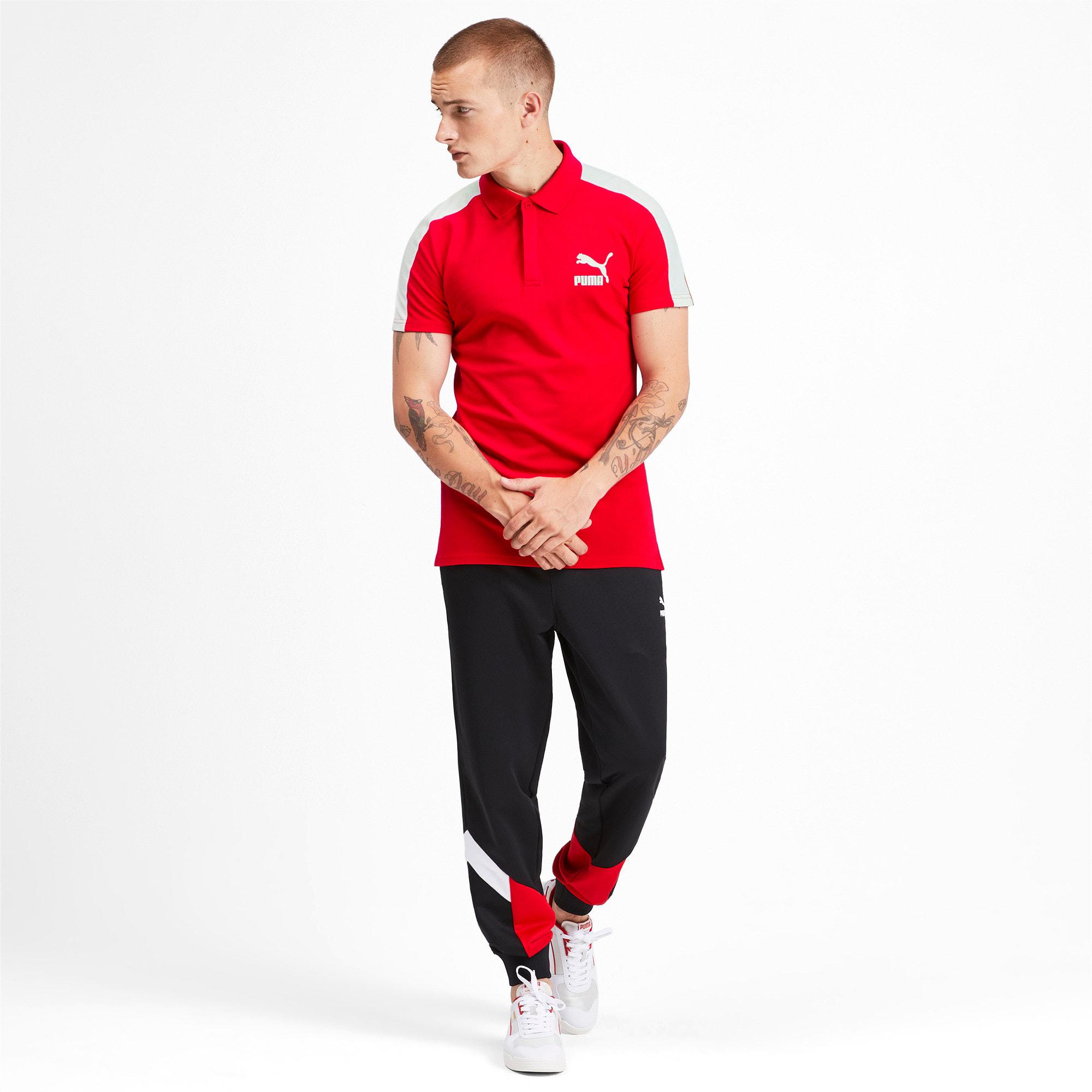 Miniatura 4 de Camiseta tipo polo T7 icónica para hombre, High Risk Red, mediano