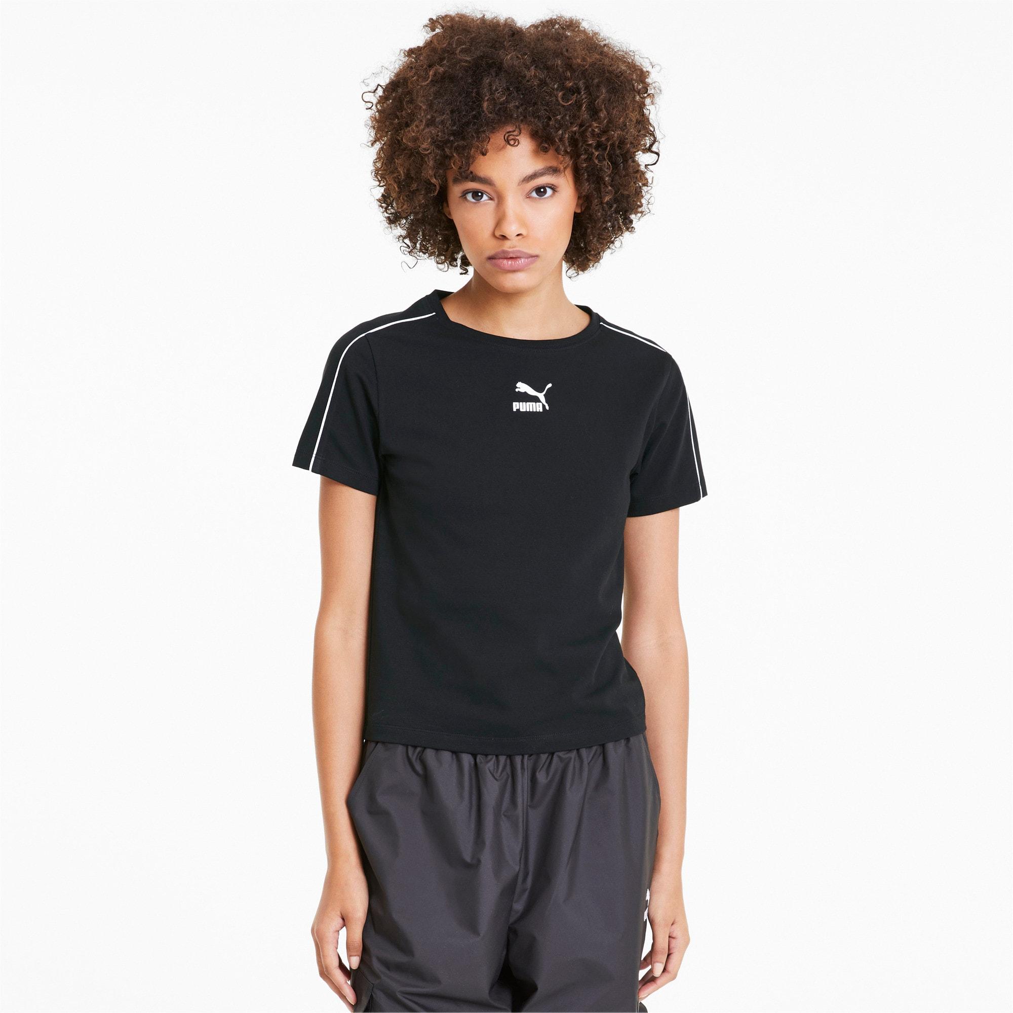 Miniatura 1 de Camiseta Classics Tight para mujer, Puma Black, mediano
