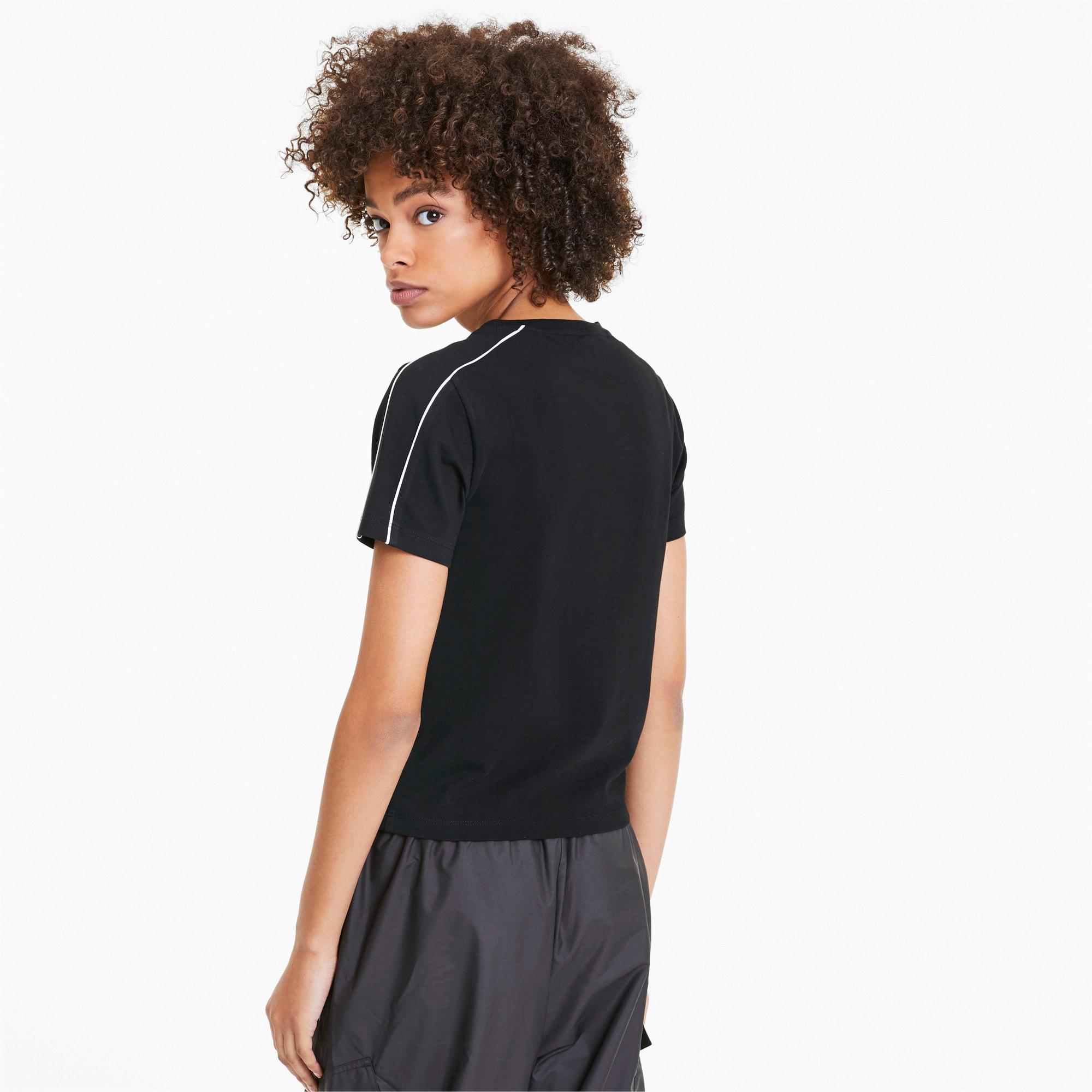 Miniatura 2 de Camiseta Classics Tight para mujer, Puma Black, mediano