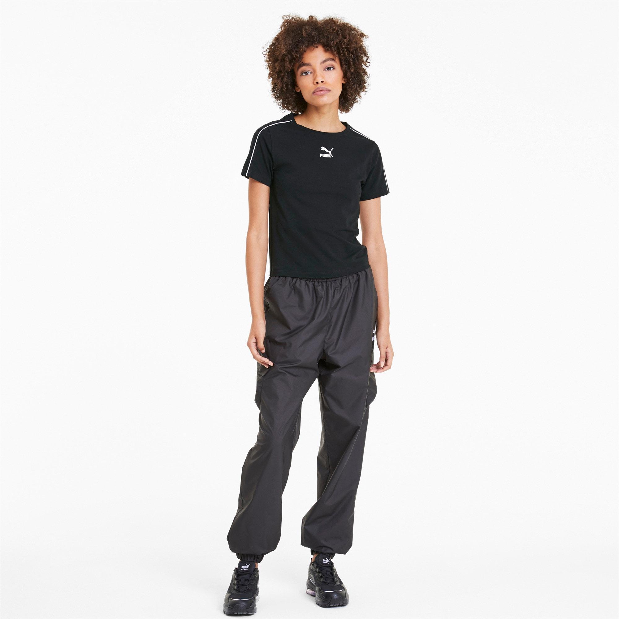 Miniatura 3 de Camiseta Classics Tight para mujer, Puma Black, mediano
