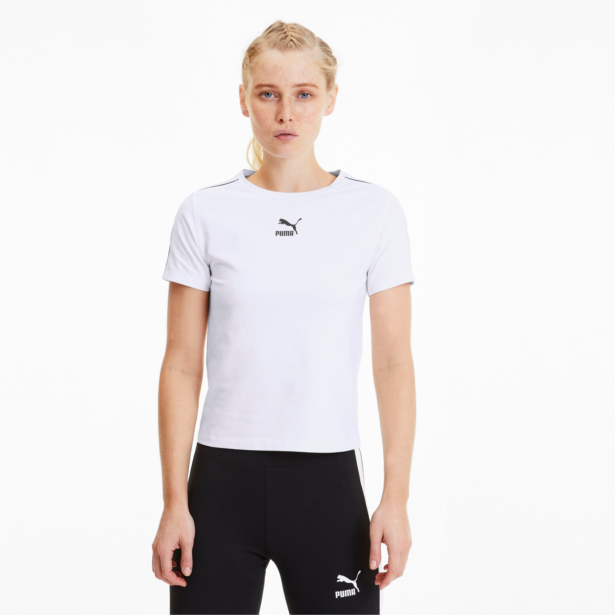 Thumbnail 1 of Classics Tight Women's Top, Puma White, medium