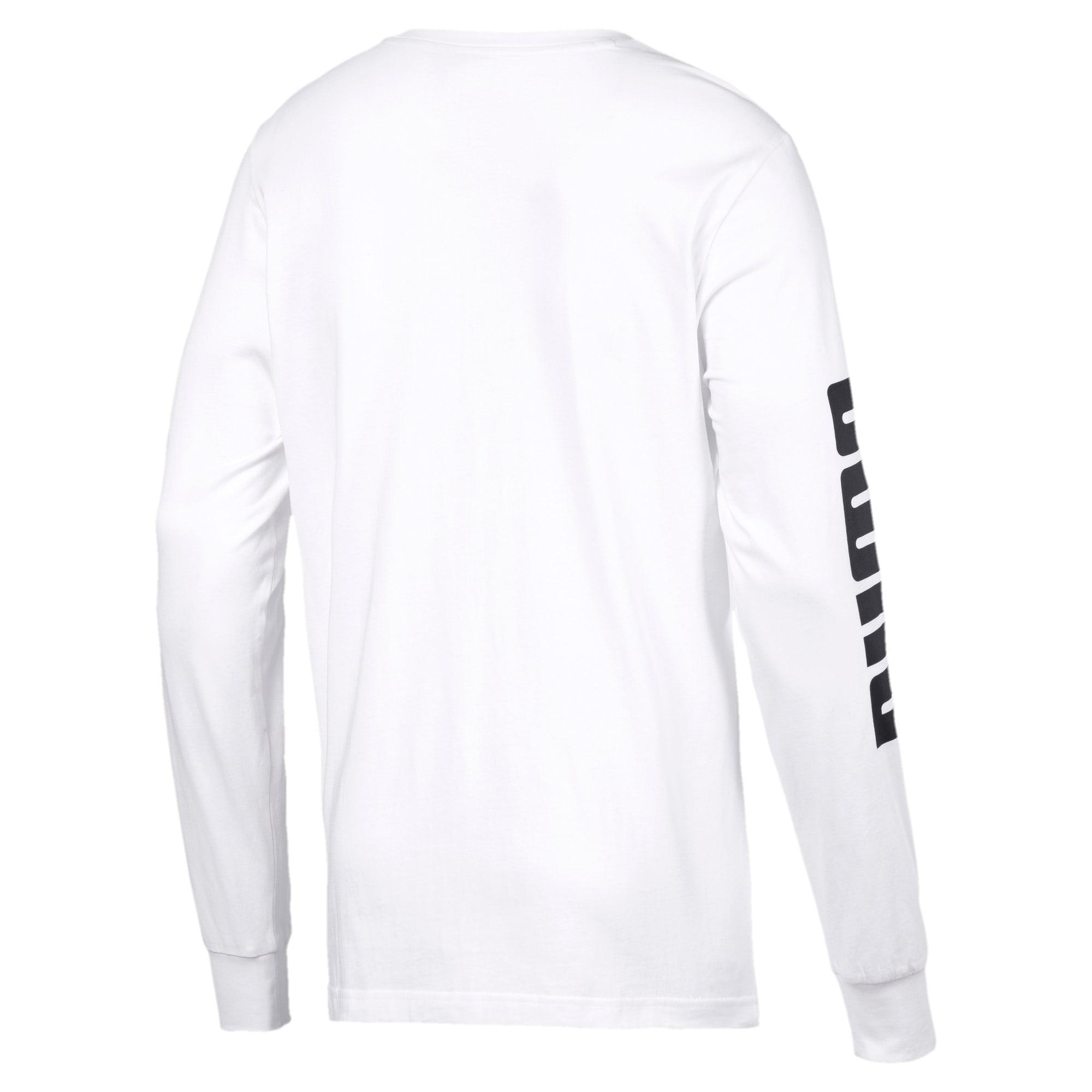 Thumbnail 5 of Classics Logo Men's Long Sleeve Tee, Puma White, medium