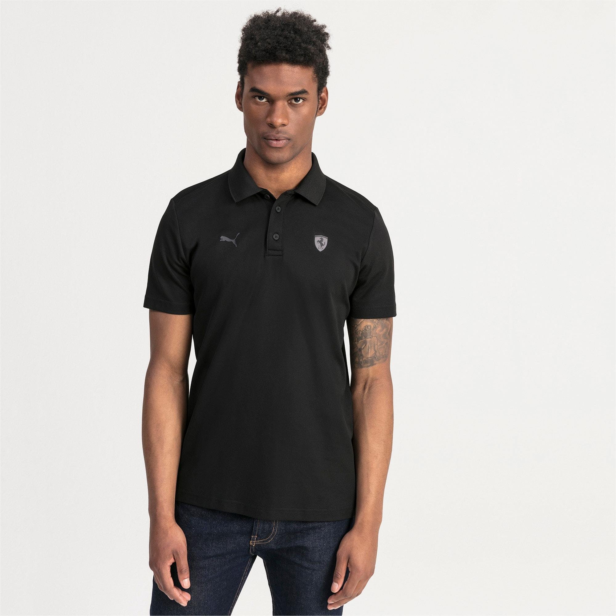 Thumbnail 1 of Ferrari Men's Polo Shirt, Puma Black, medium