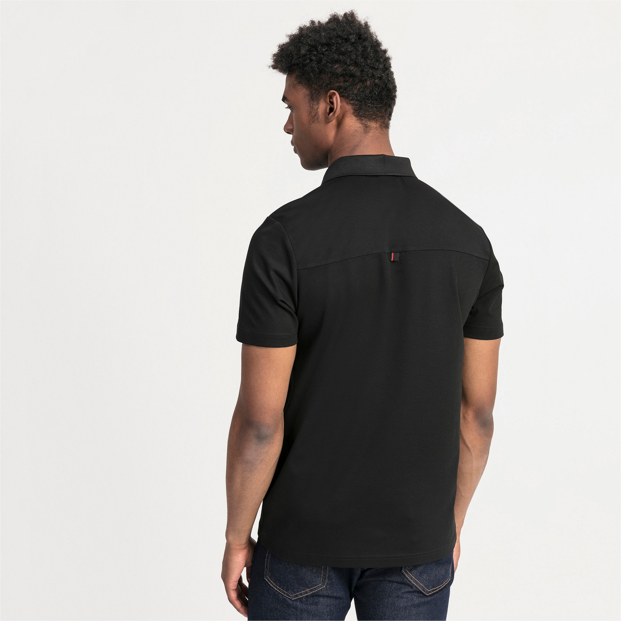 Thumbnail 2 of Ferrari Men's Polo Shirt, Puma Black, medium