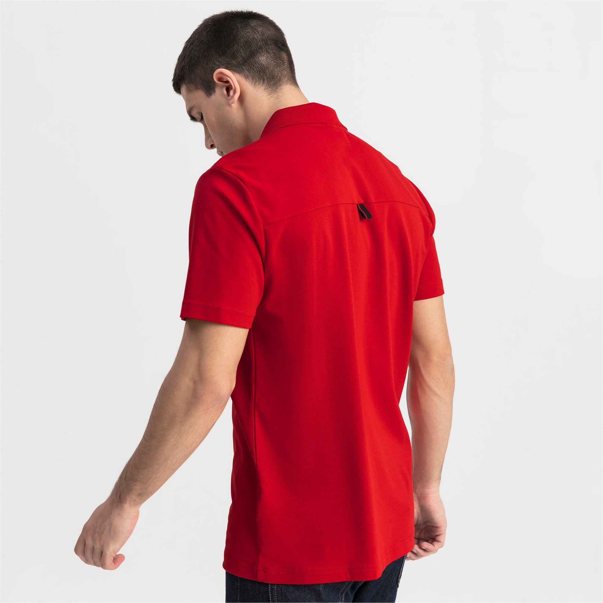 Thumbnail 2 of Ferrari Men's Polo Shirt, Rosso Corsa, medium