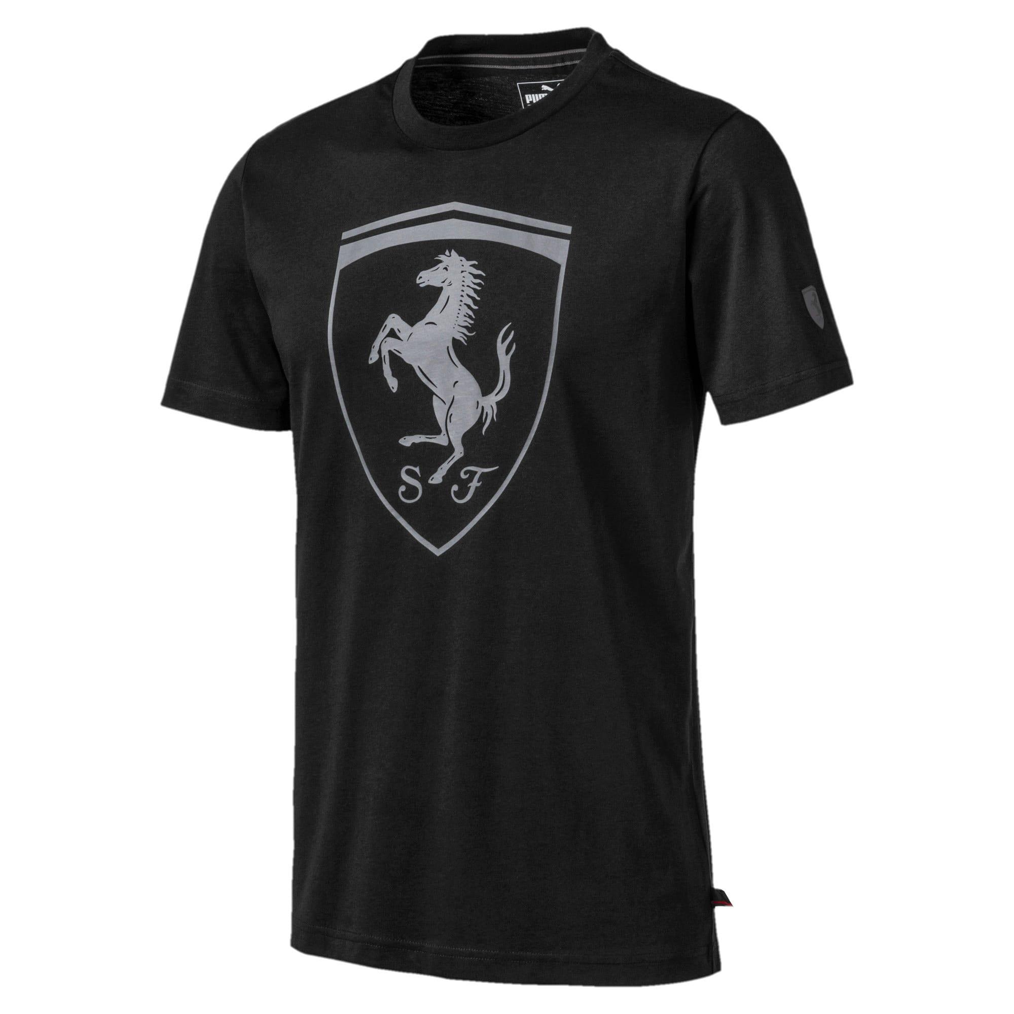 Thumbnail 5 of Ferrari Big Shield Men's Tee, Puma Black, medium
