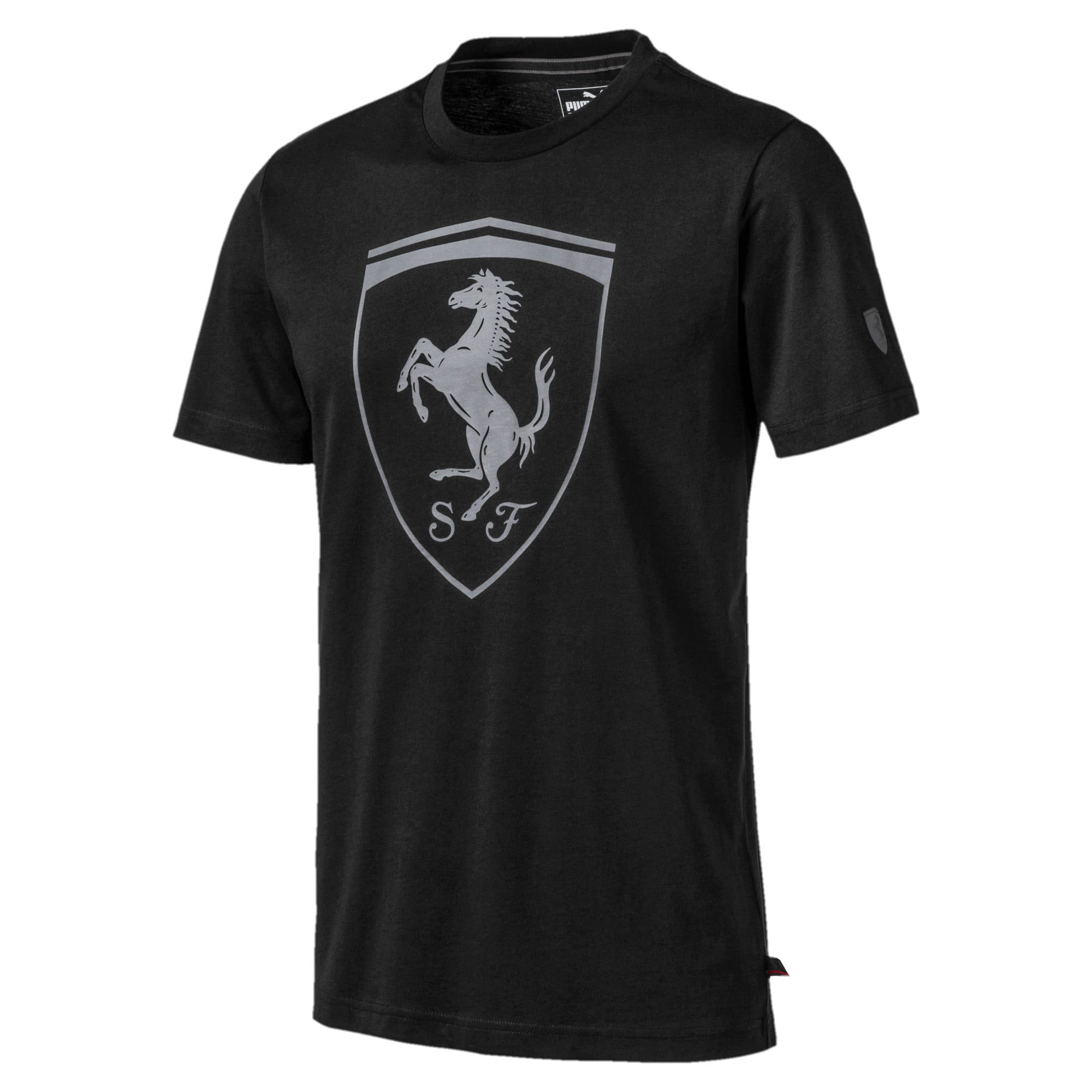 Miniatura 1 de Camiseta con escudo Ferrarigrande, para hombre, Puma Black, mediano