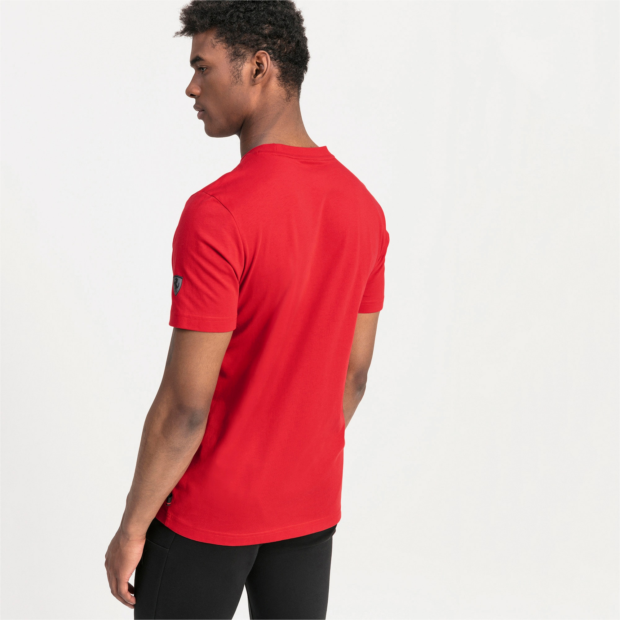Thumbnail 2 of Ferrari Big Shield Men's Tee, Rosso Corsa, medium