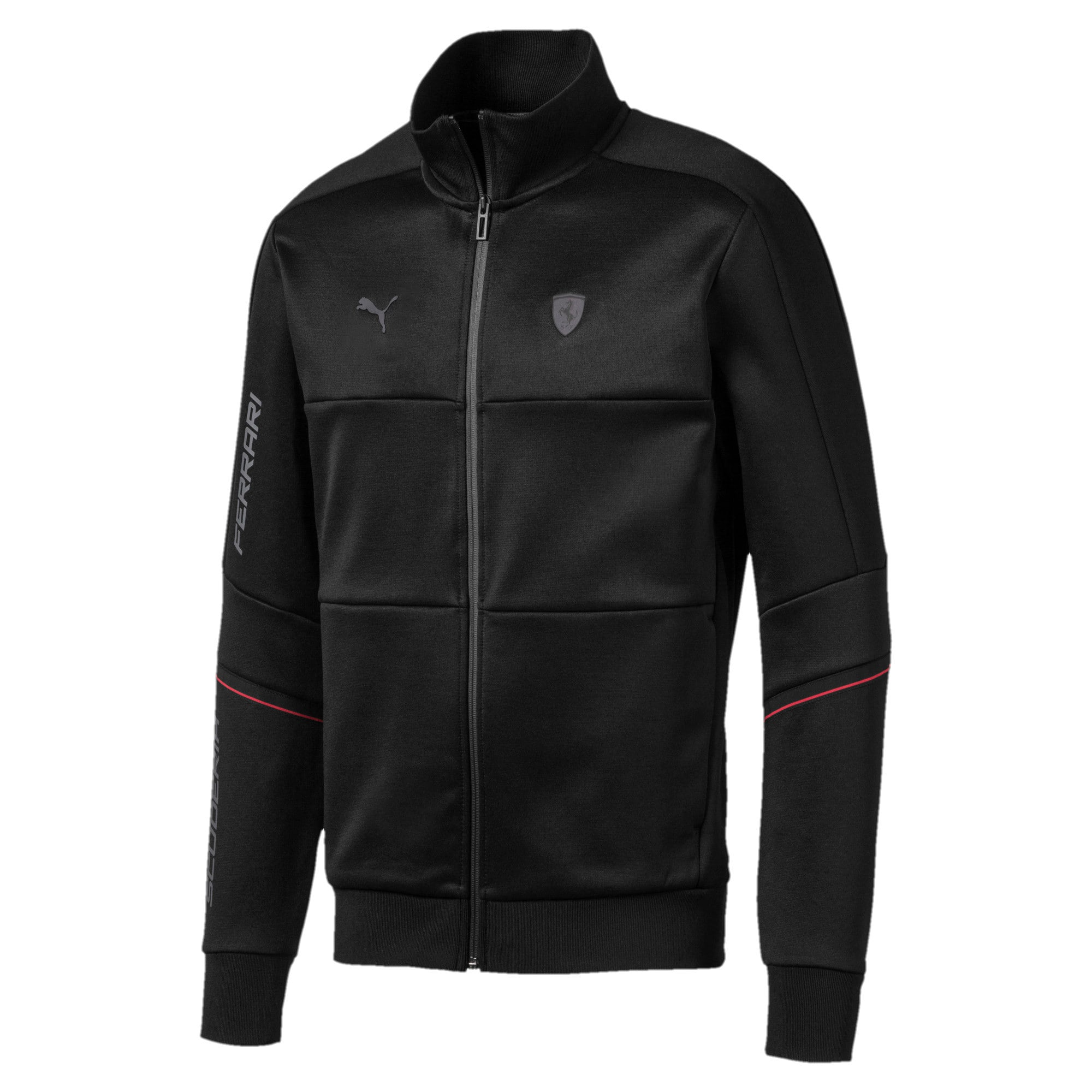 Thumbnail 5 of Ferrari T7 Herren Trainingsjacke, Puma Black, medium