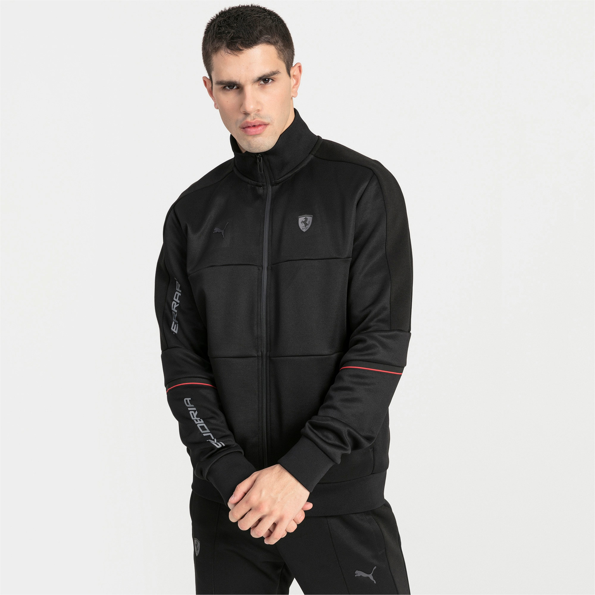 Thumbnail 1 of Ferrari T7 Herren Trainingsjacke, Puma Black, medium