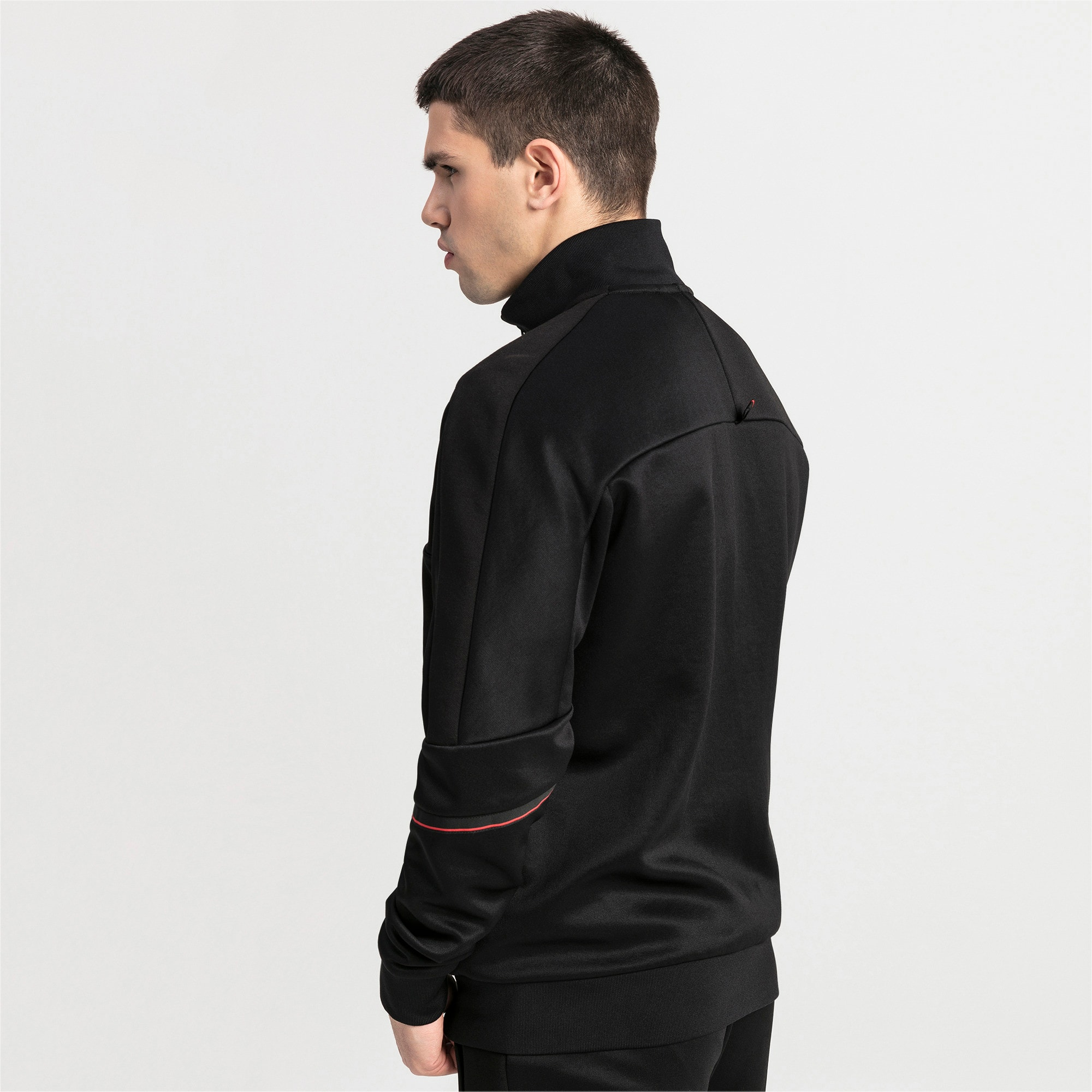 Thumbnail 2 of Ferrari T7 Herren Trainingsjacke, Puma Black, medium