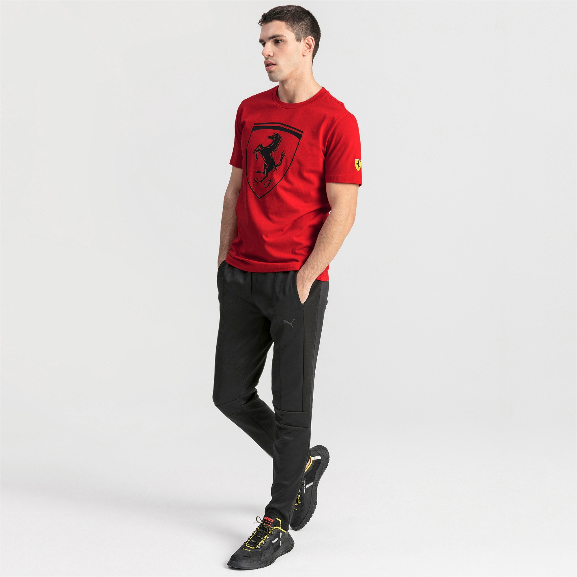 Thumbnail 3 of Ferrari T7 Herren Trainingshose, Puma Black, medium