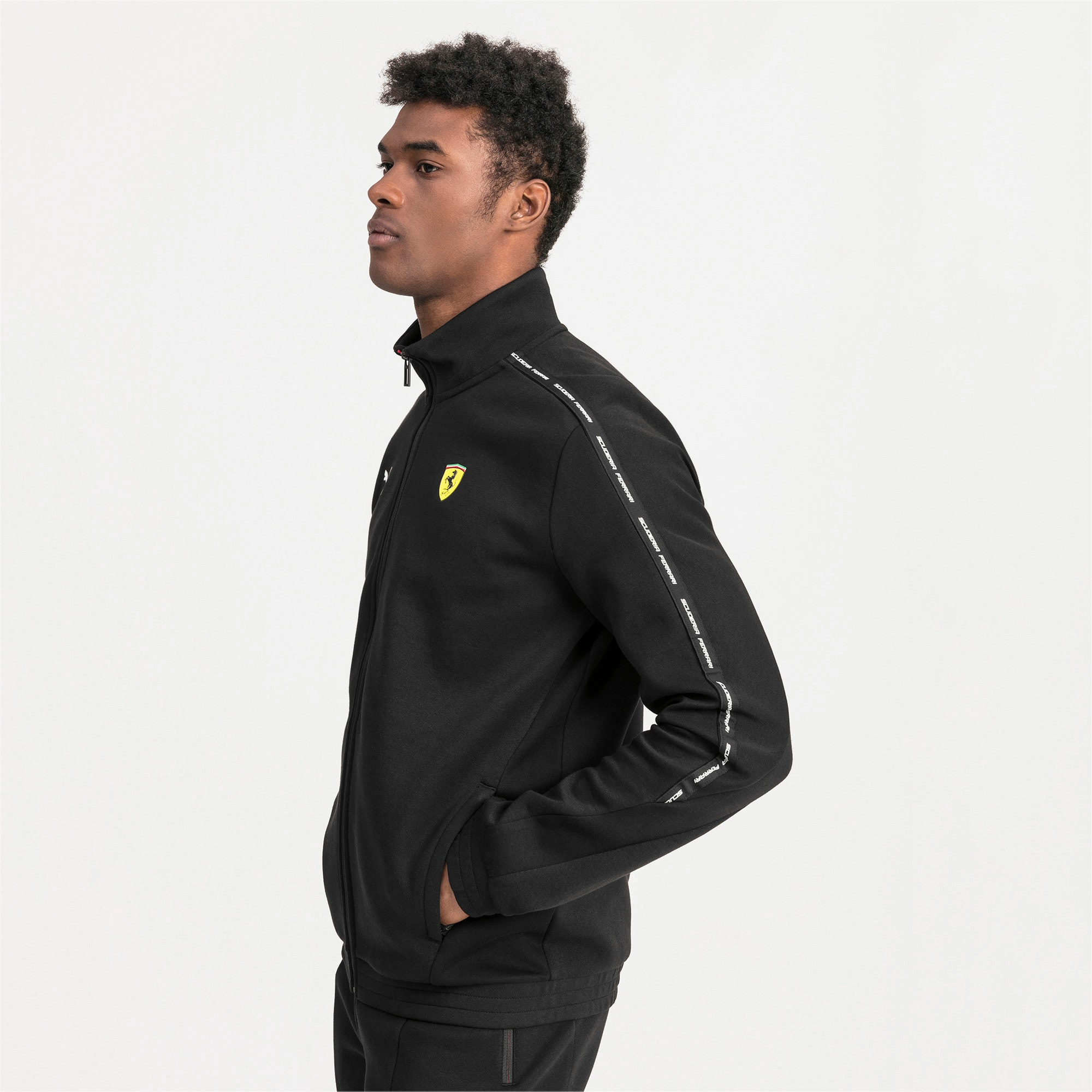 Thumbnail 1 of Ferrari Men's Sweat Jacket, Puma Black, medium