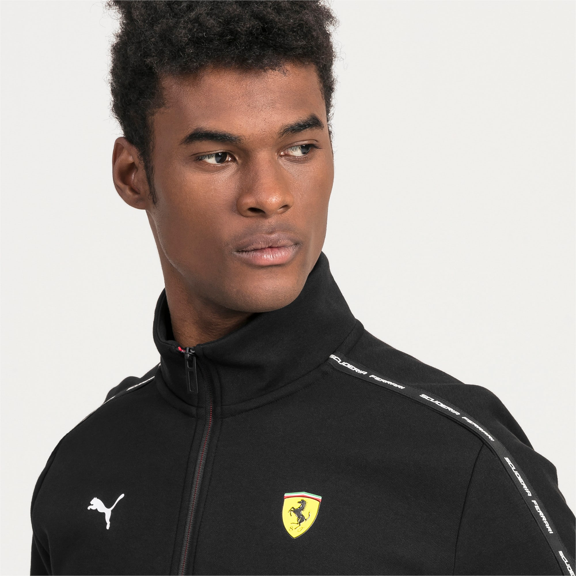 Thumbnail 4 of Ferrari Men's Sweat Jacket, Puma Black, medium