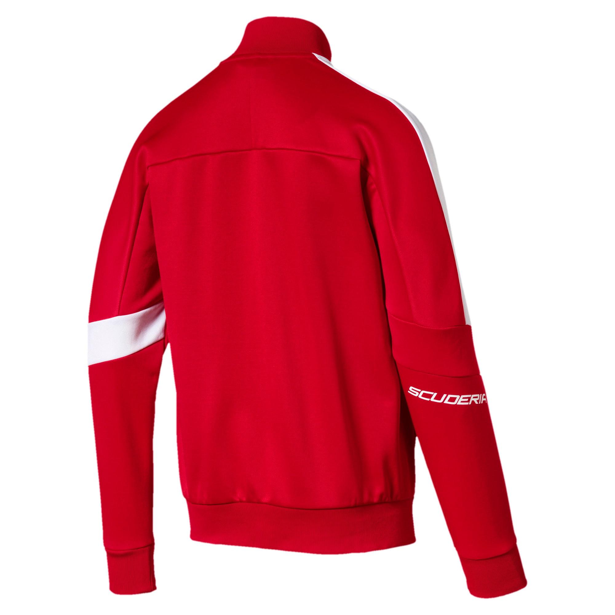 Thumbnail 5 of Ferrari T7 Men's Track Jacket, Rosso Corsa, medium