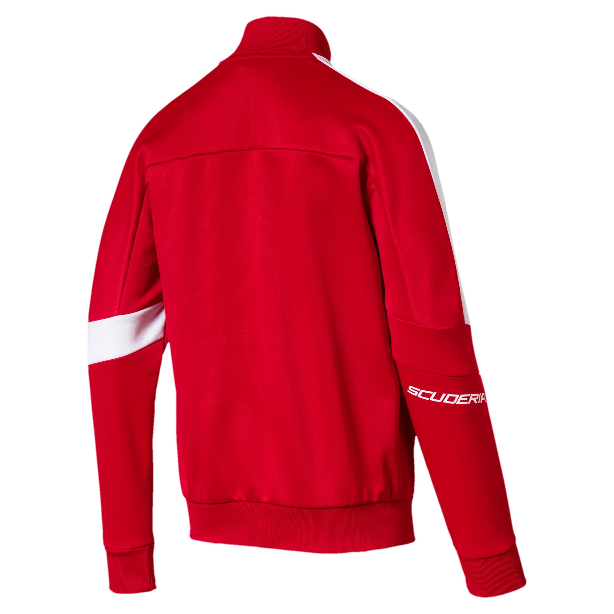 Thumbnail 2 of Scuderia Ferrari Men's T7 Track Jacket, Rosso Corsa, medium