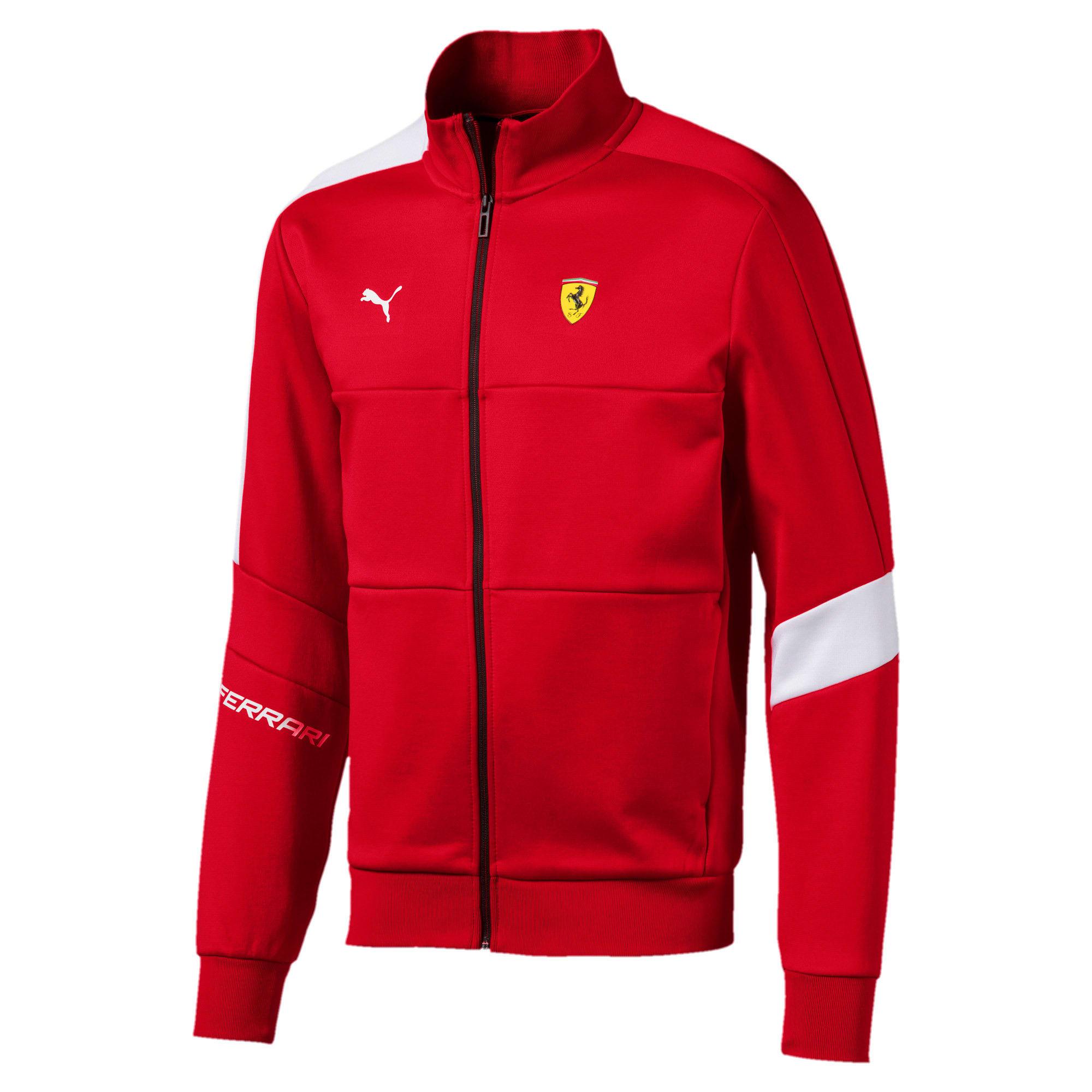 Thumbnail 4 of Ferrari T7 Men's Track Jacket, Rosso Corsa, medium