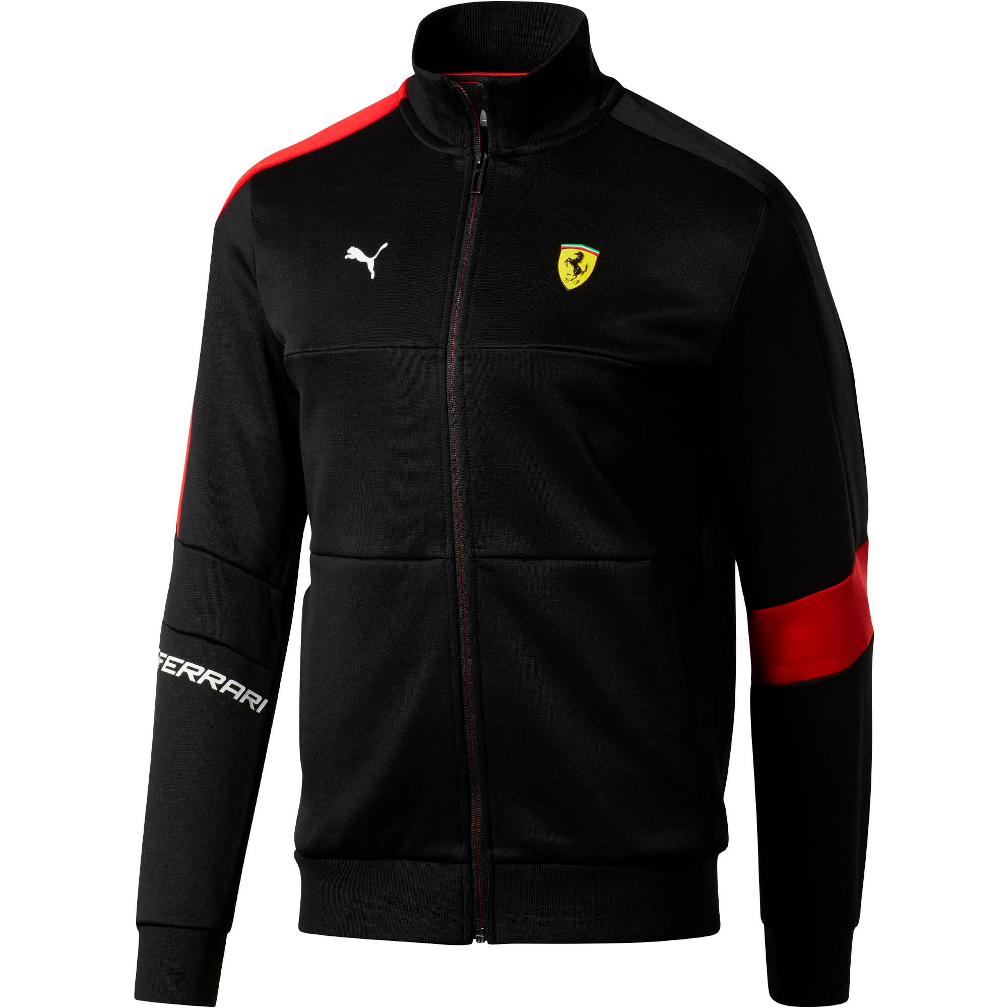 Thumbnail 1 of Scuderia Ferrari Men's T7 Track Jacket, Puma Black, medium