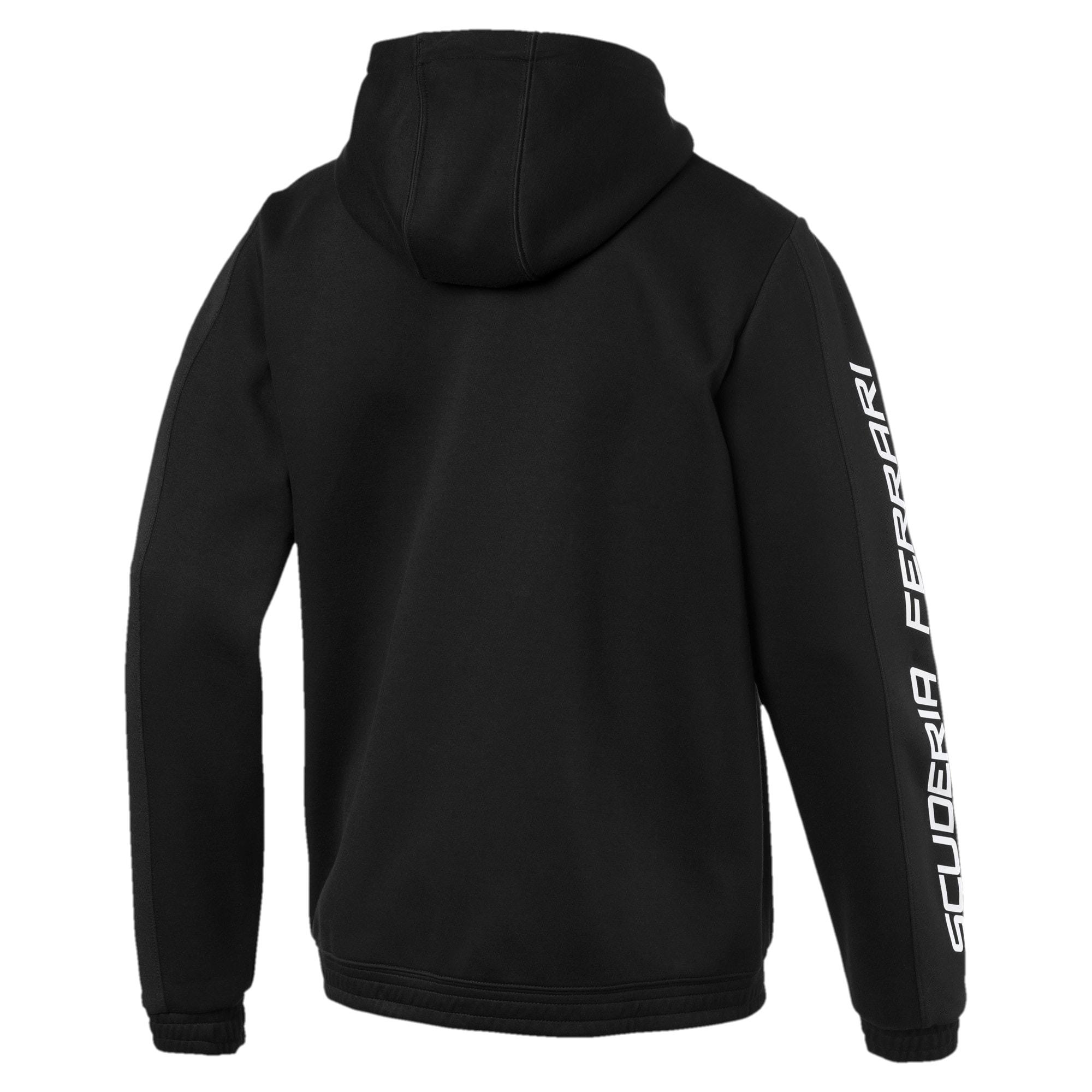Thumbnail 2 of Scuderia Ferrari Men's Hooded Sweat Jacket, Puma Black, medium