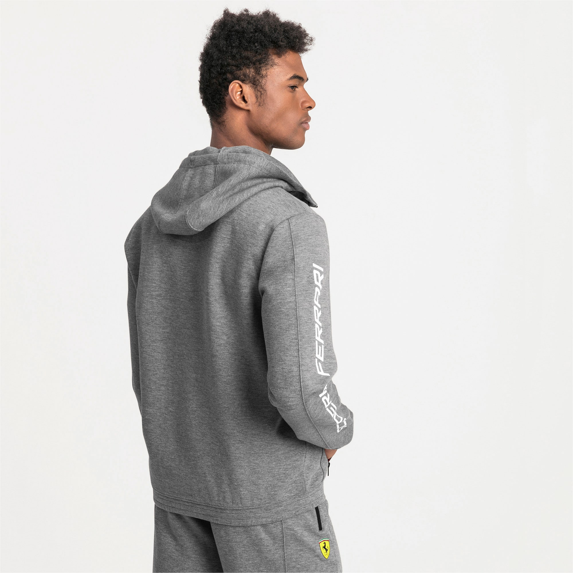 Thumbnail 2 of Ferrari Hooded Men's Sweat Jacket, Medium Gray Heather, medium