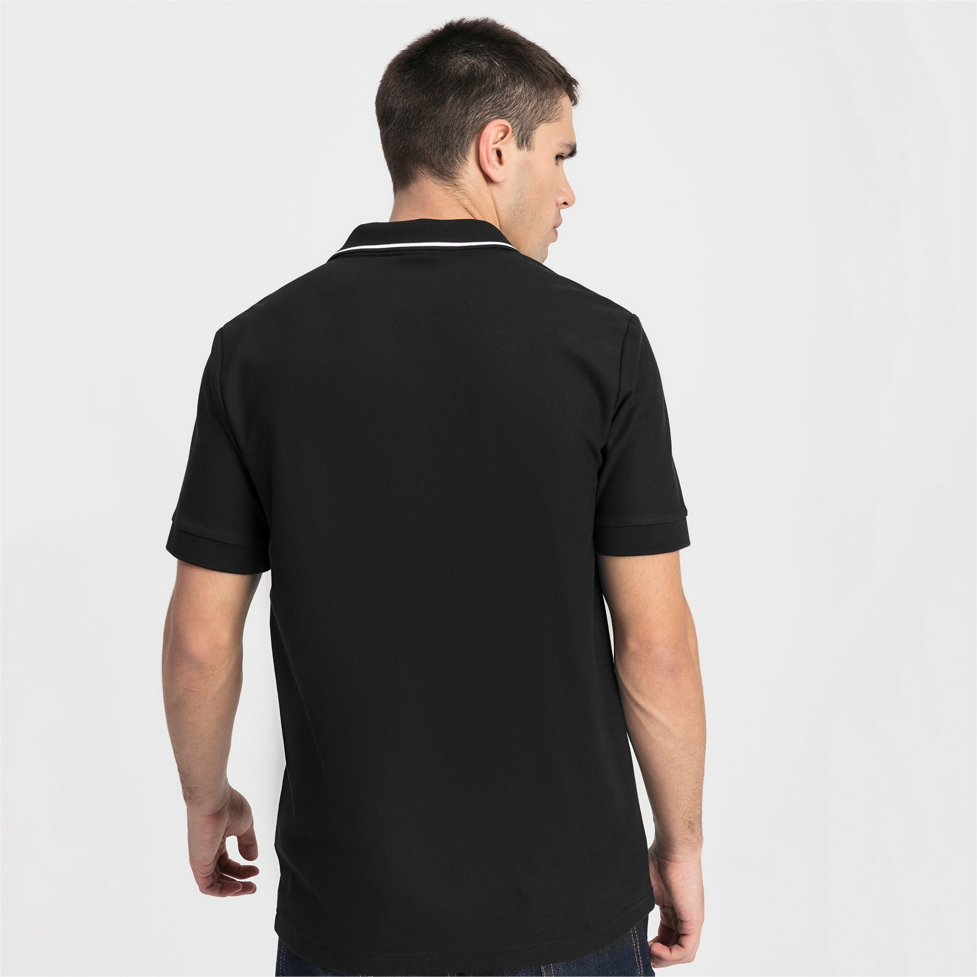 Thumbnail 2 of Ferrari Herren Polo, Puma Black, medium