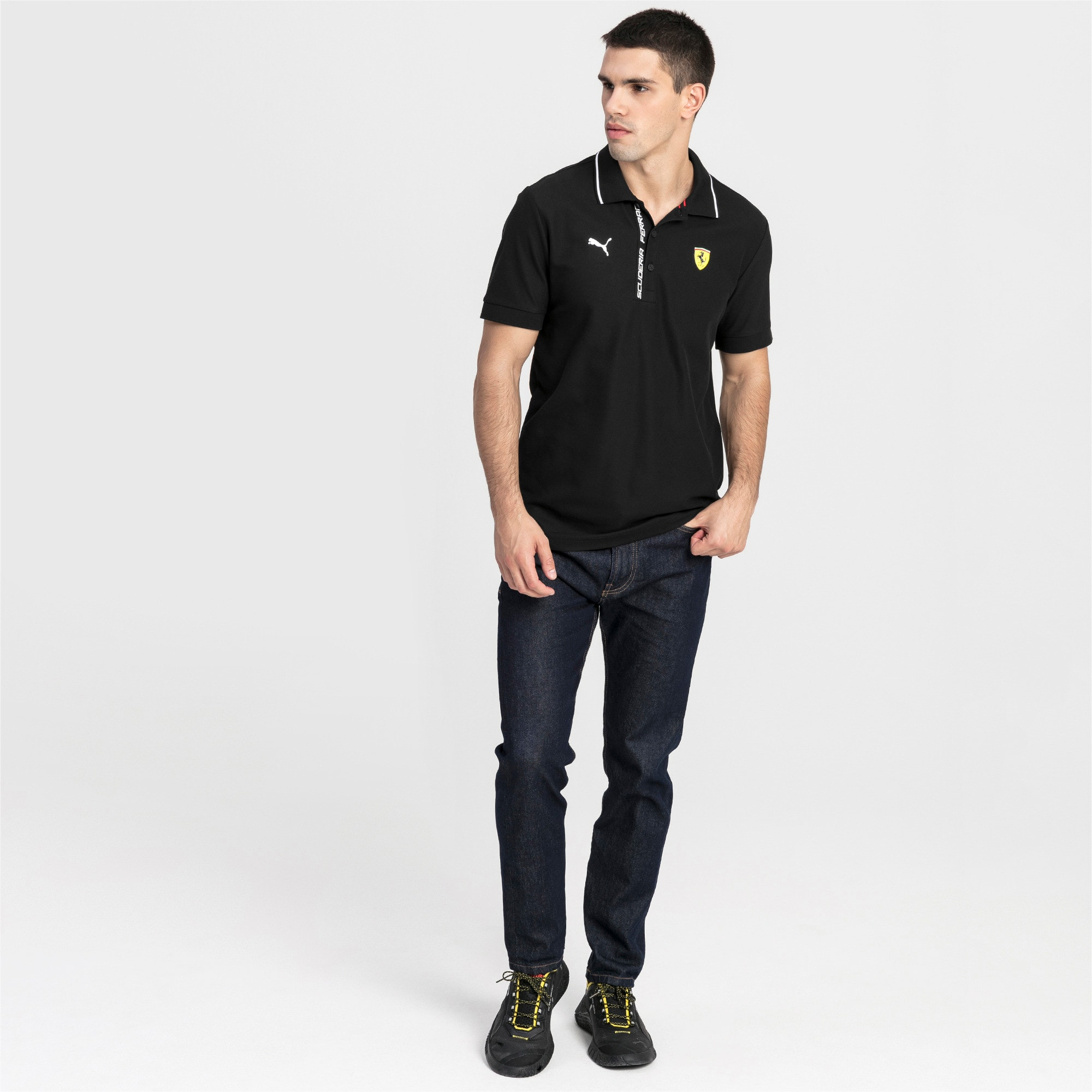 Thumbnail 3 of Ferrari Herren Polo, Puma Black, medium