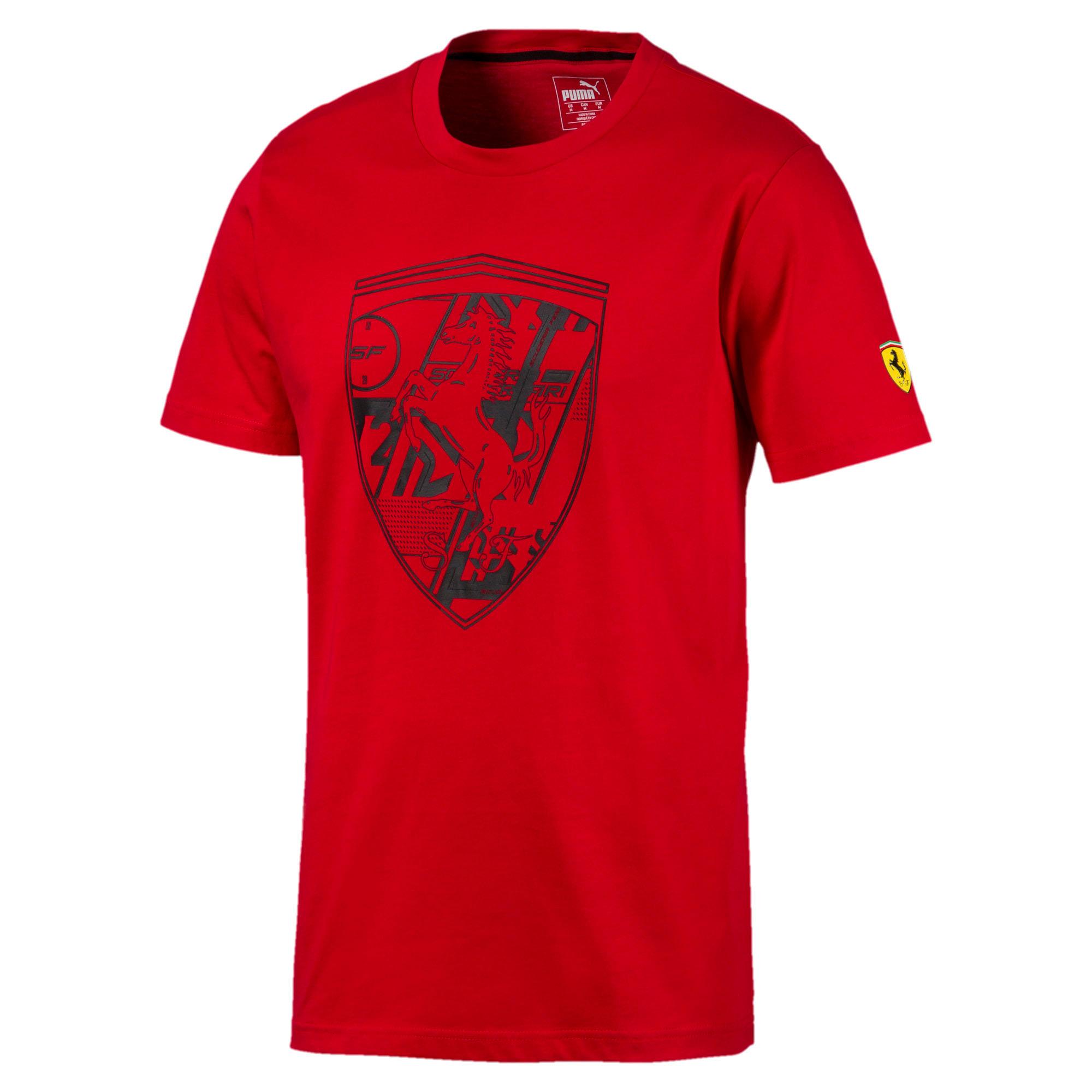 Thumbnail 1 of フェラーリ ビッグシールド Tシャツ + 半袖, Rosso Corsa, medium-JPN