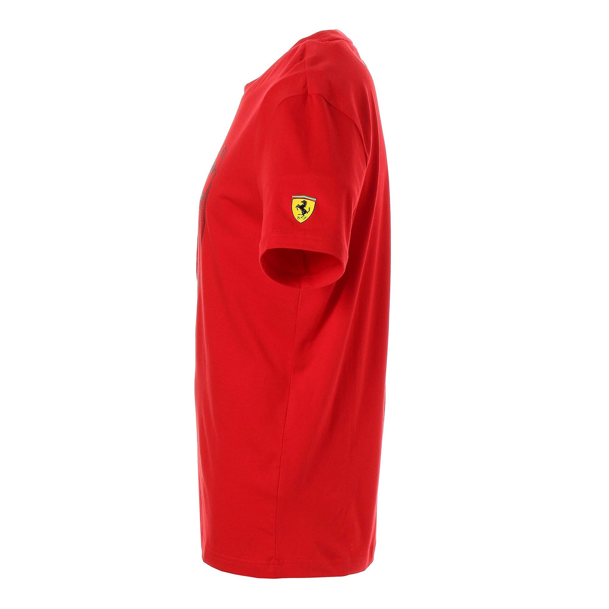 Thumbnail 2 of フェラーリ ビッグシールド Tシャツ + 半袖, Rosso Corsa, medium-JPN